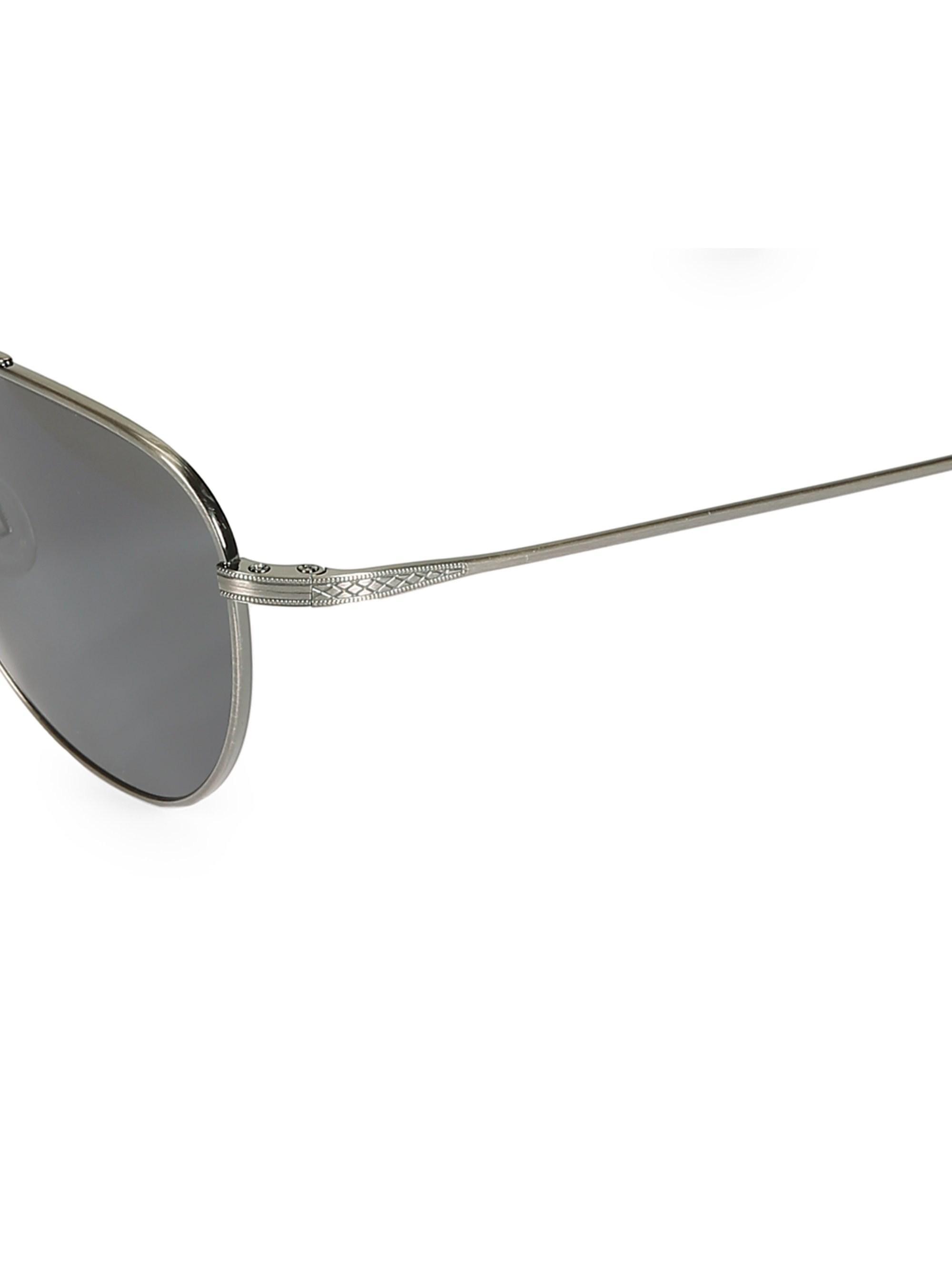 73fe7a01fe Lyst - Barton Perreira 55mm Aerial Pewter Aviator Sunglasses in ...