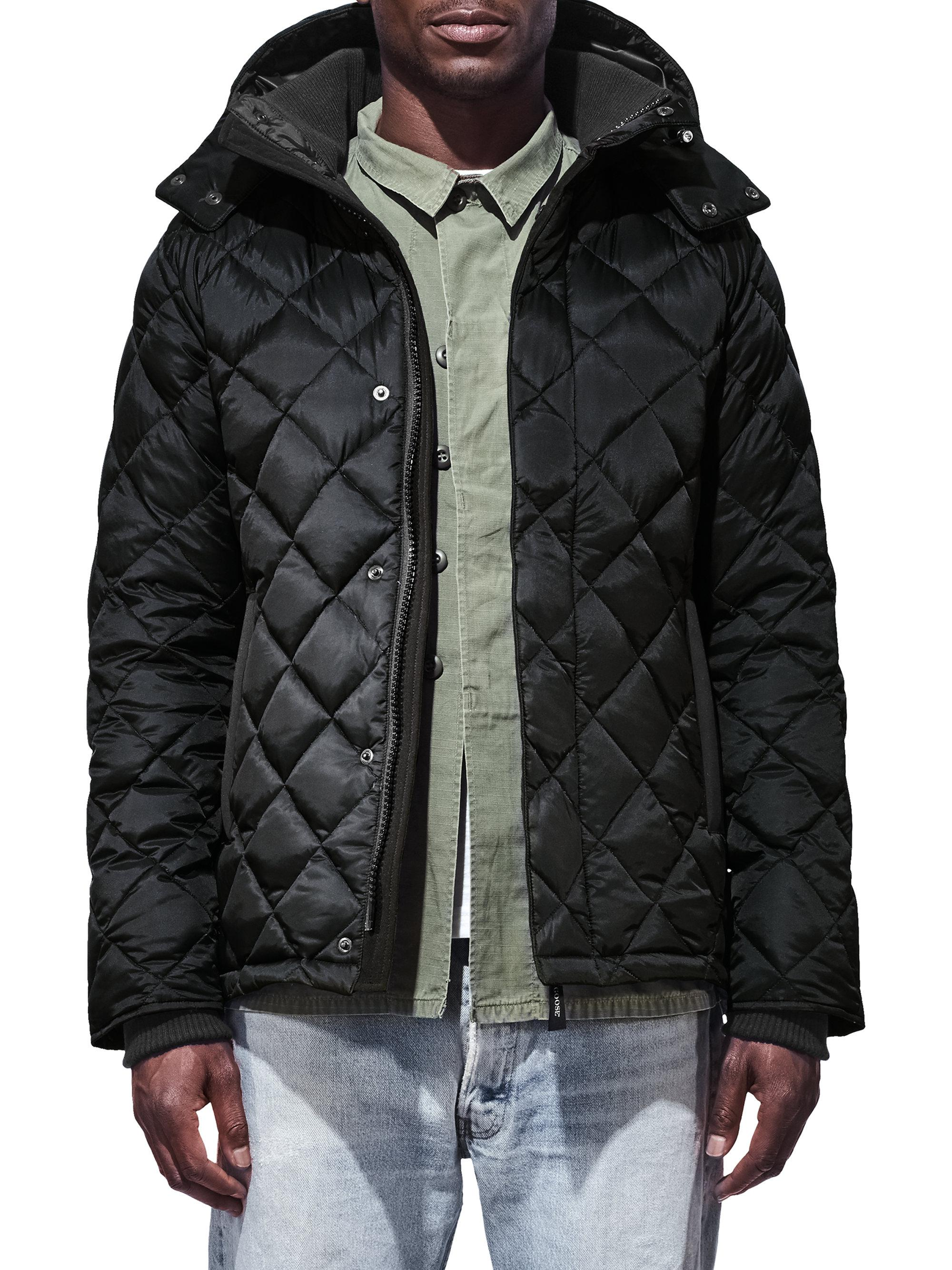 canada goose black down jacket