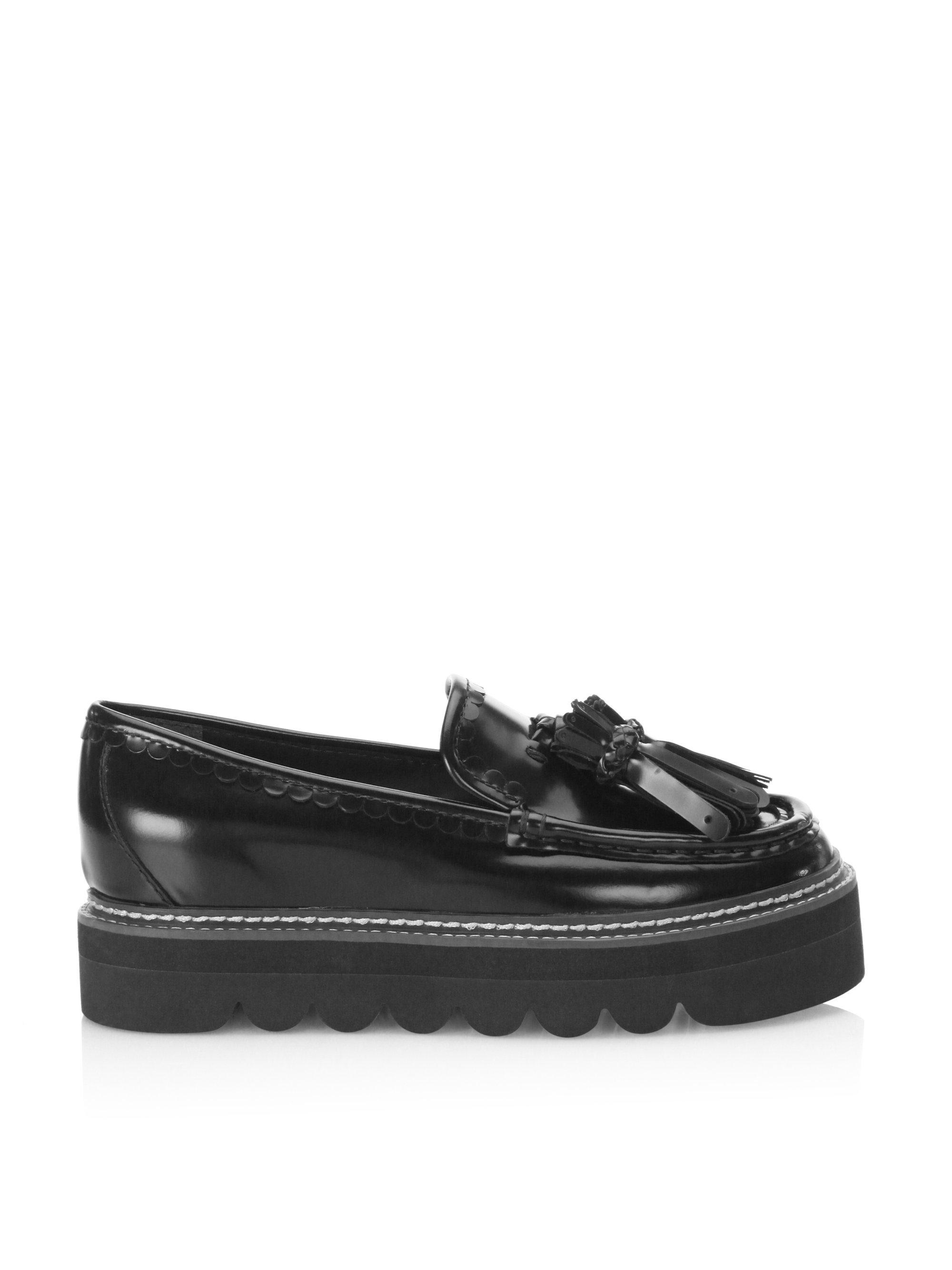 c206ed8147b36 Lyst - See By Chloé Zina Leather Platform Loafers in Black