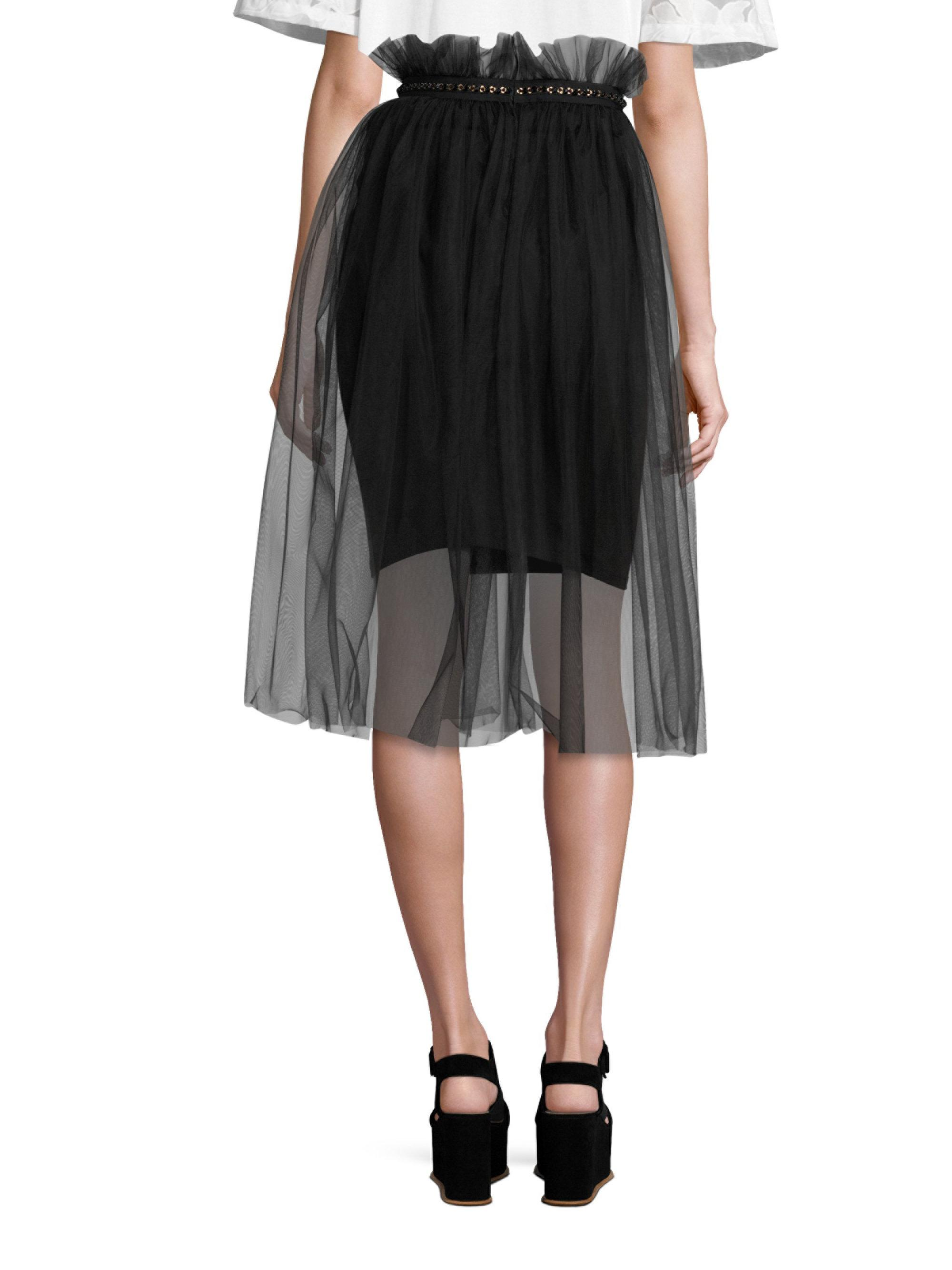 Mother Of Pearl Woman Delphia Embellished Tulle Midi Skirt Black Size 10 Mother Of Pearl Outlet 100% Authentic LbbHkZej