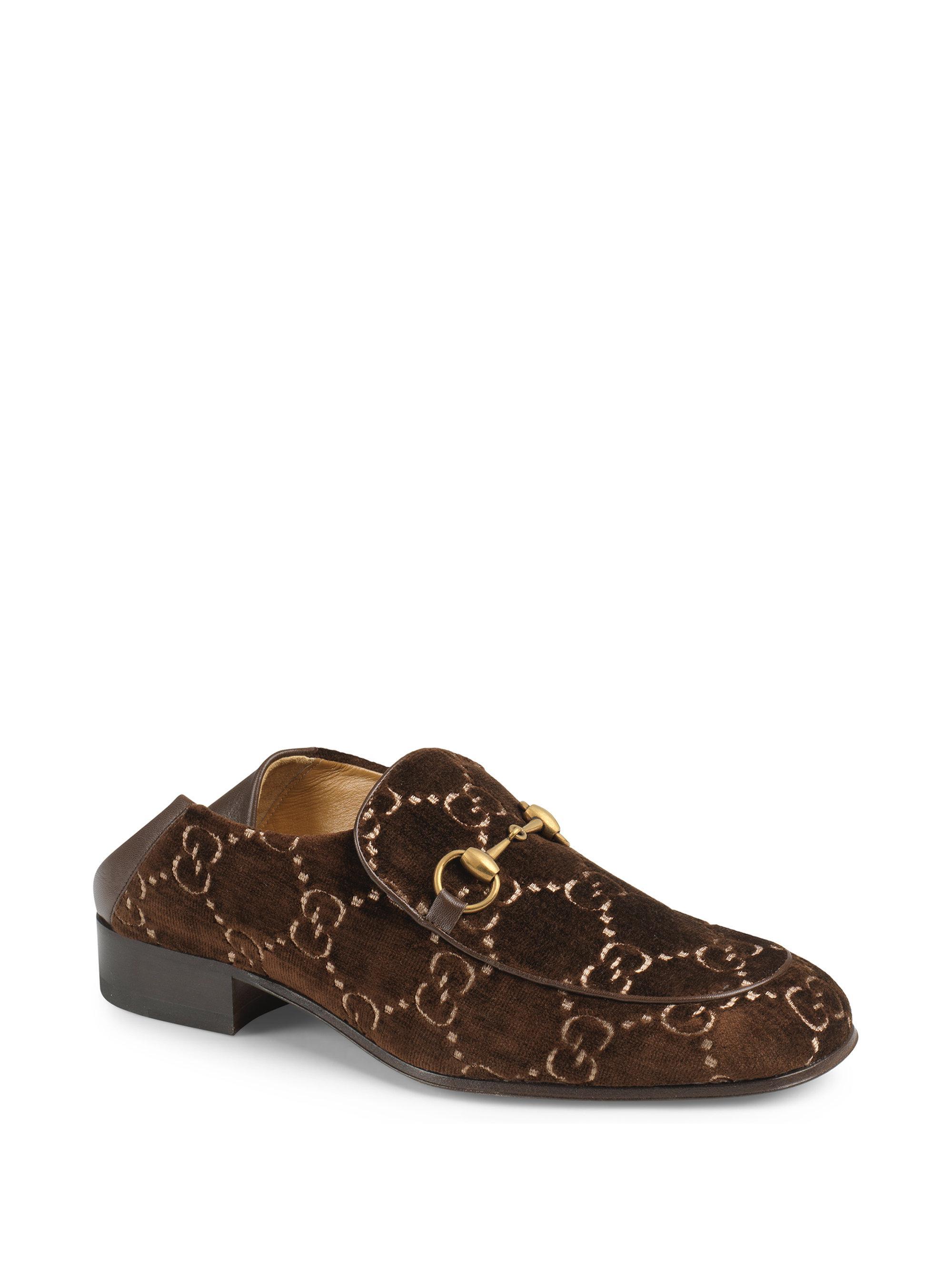 Gucci Mister GG Velvet Horsebit Loafers 8et8isQ