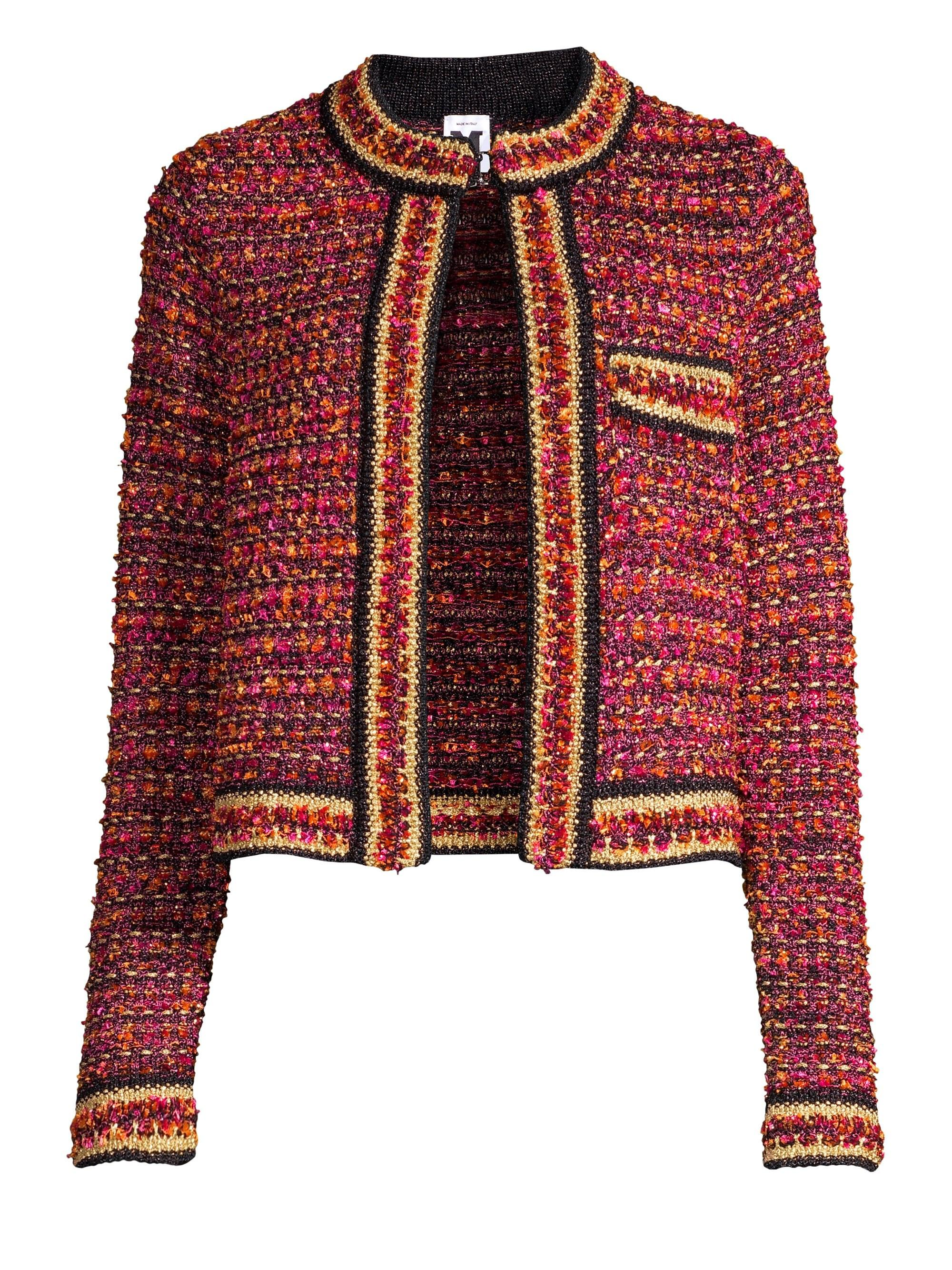 2ac848a5fe M Missoni Tweed Jacket in Orange - Lyst