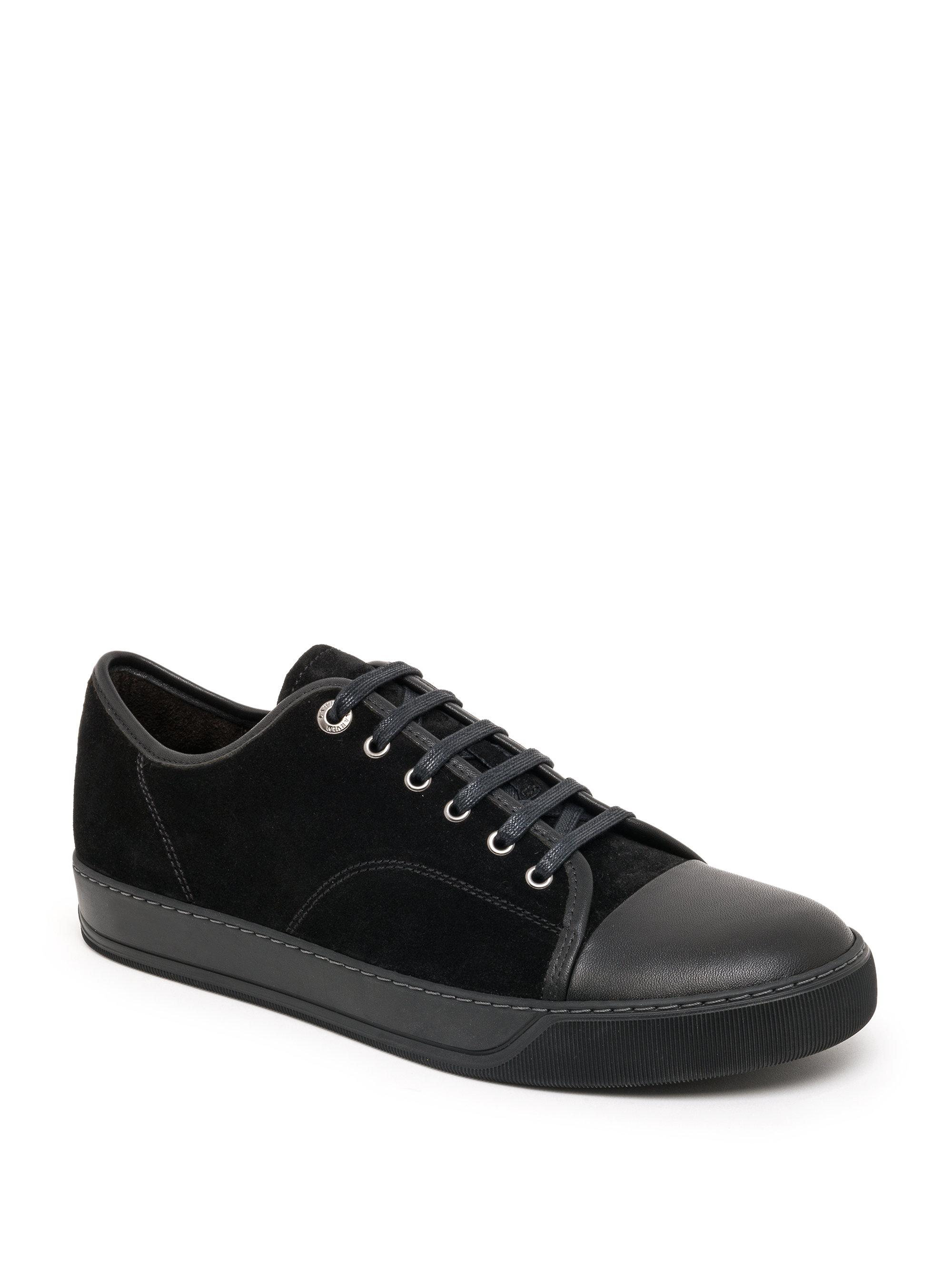 LanvinClassic Suede & Leather Tonal Sneakers NmbWF2
