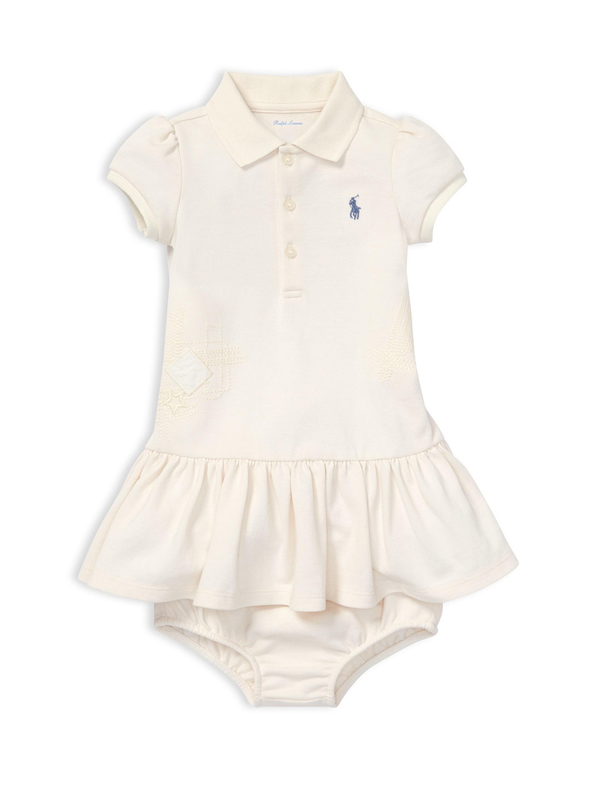 6cb8ac06c Lyst - Ralph Lauren Baby Girl s 2-piece Cotton Polo Dress   Bloomers ...