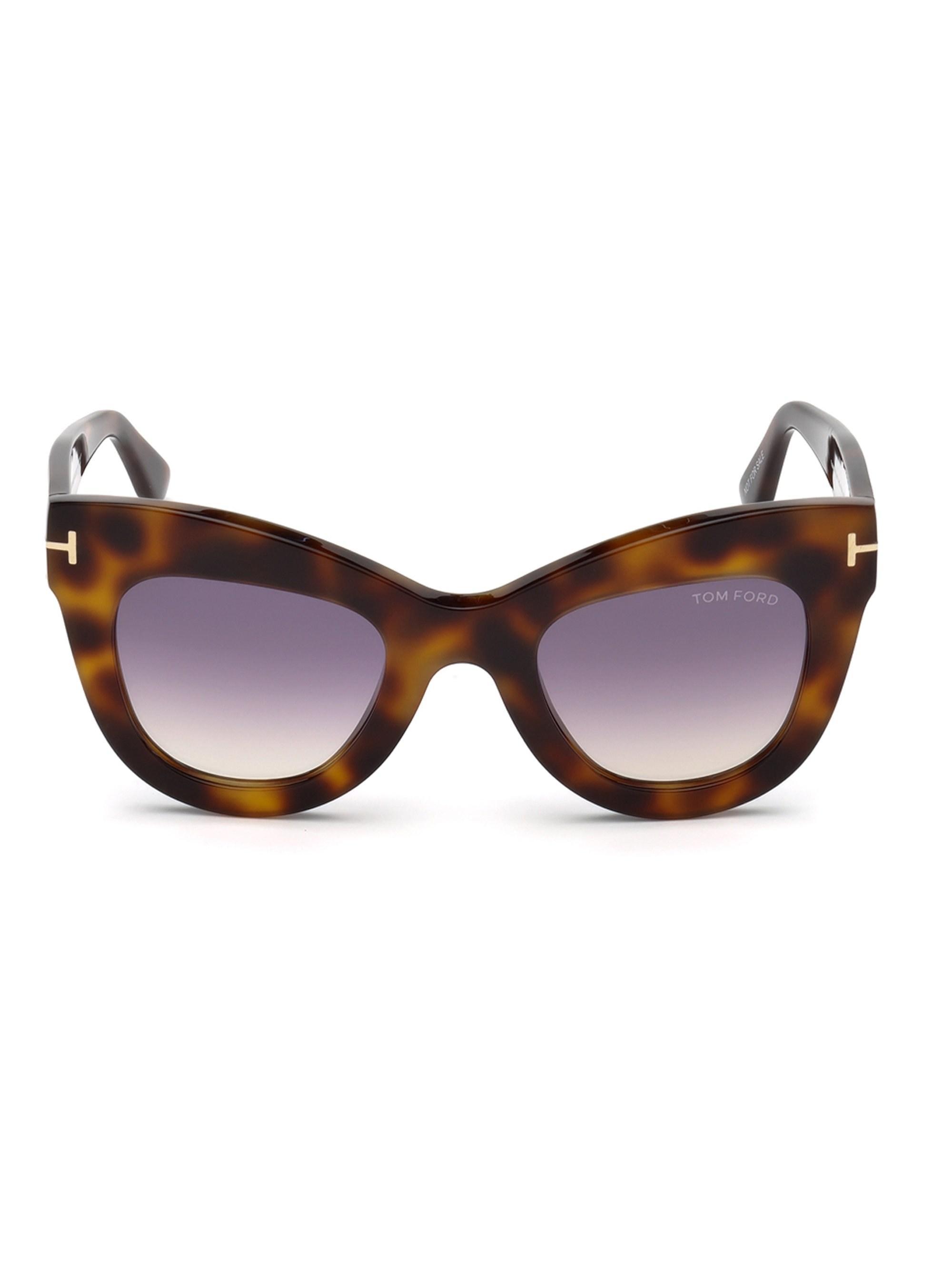 0ded3e303af Tom Ford - Brown 47mm Karina Cat Eye Sunglasses - Lyst. View fullscreen