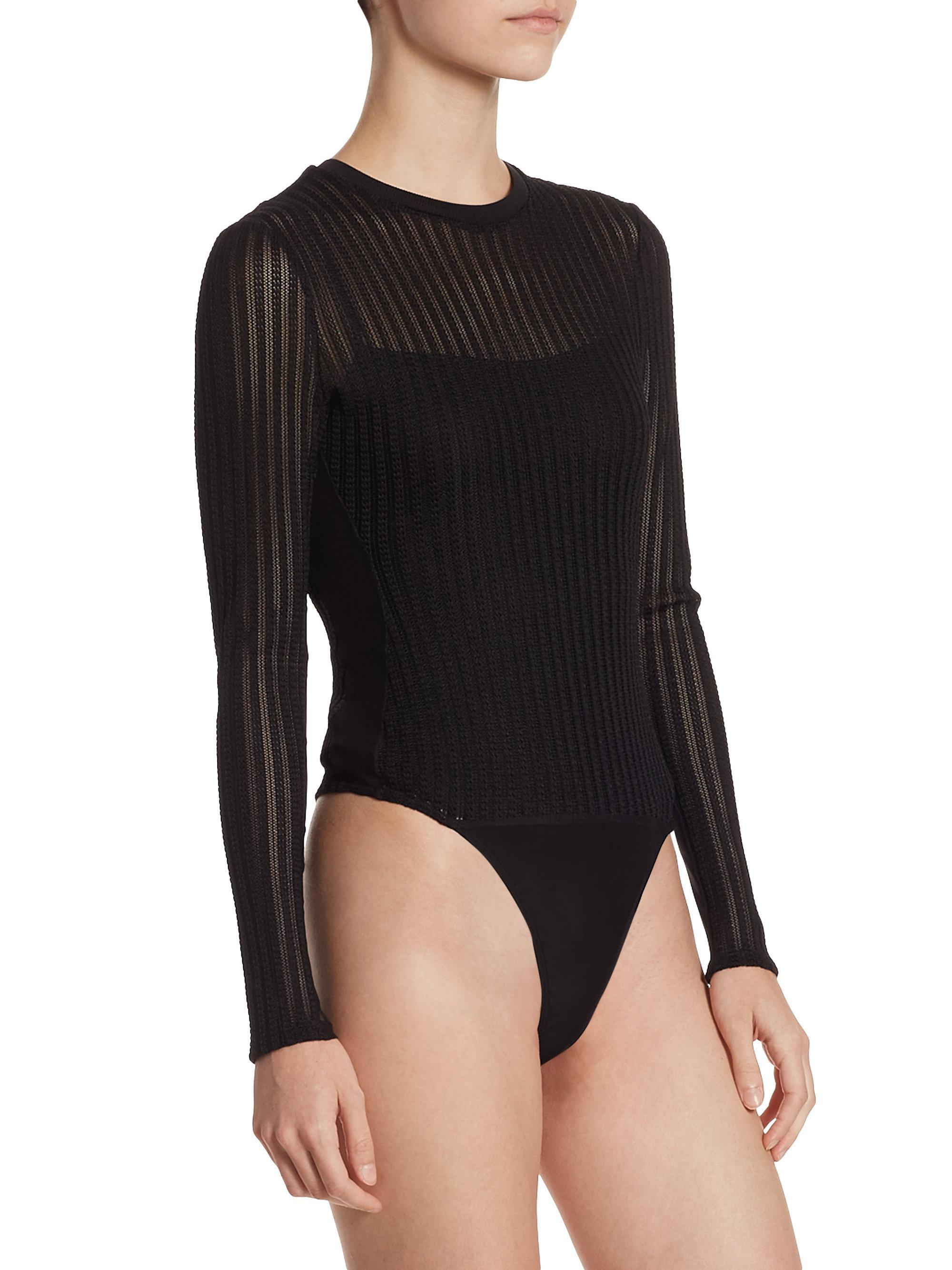 Cinq À Sept Woman Elara Lace-trimmed Cutout Stretch-cotton Bodysuit Black Size L Cinq à Sept Clearance Official Cheap Sale Best s7ItBcy