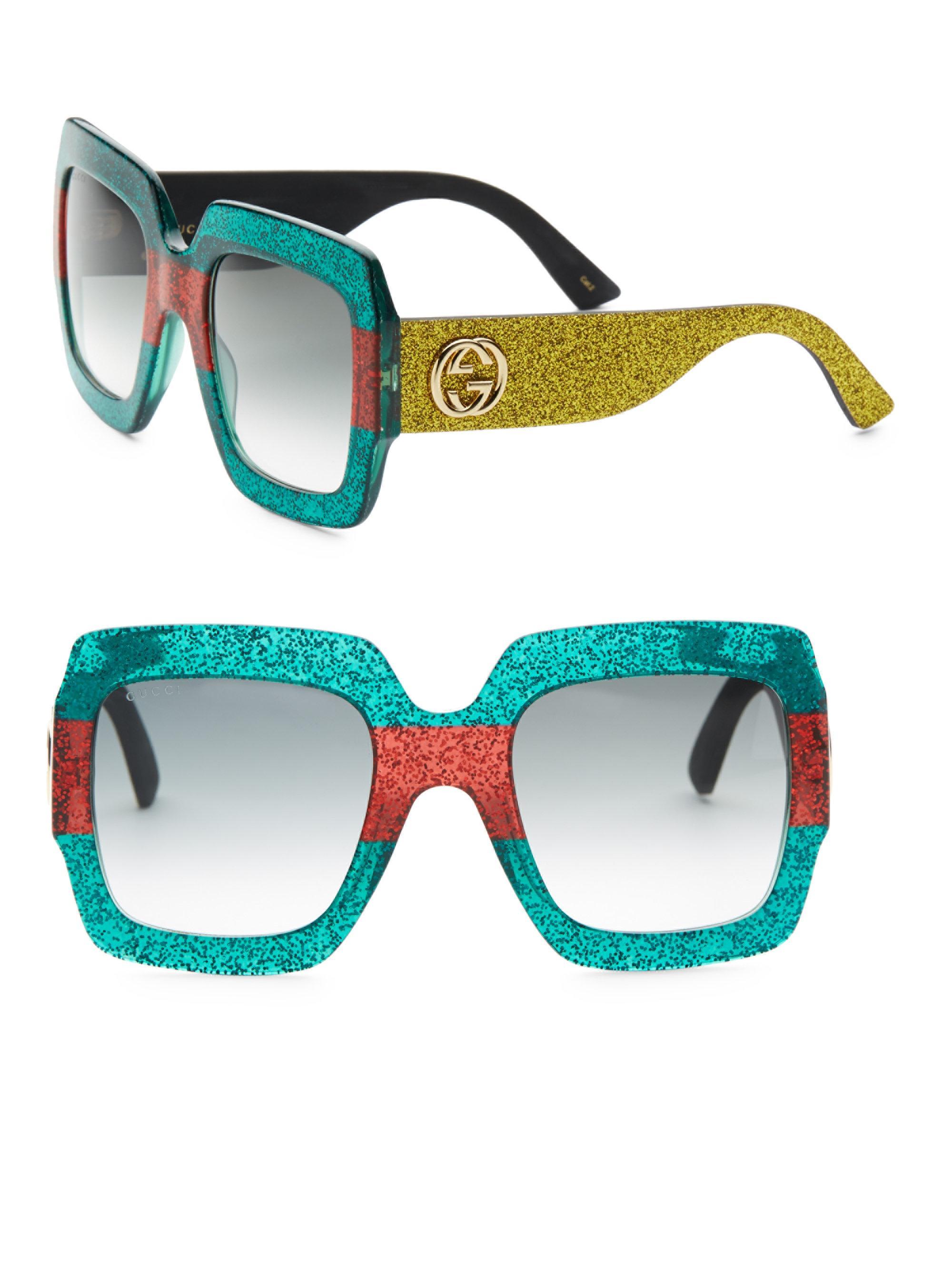 3b3c30136c4 Gucci Oversized Square Sunglasses Glitter - Image Of Glasses