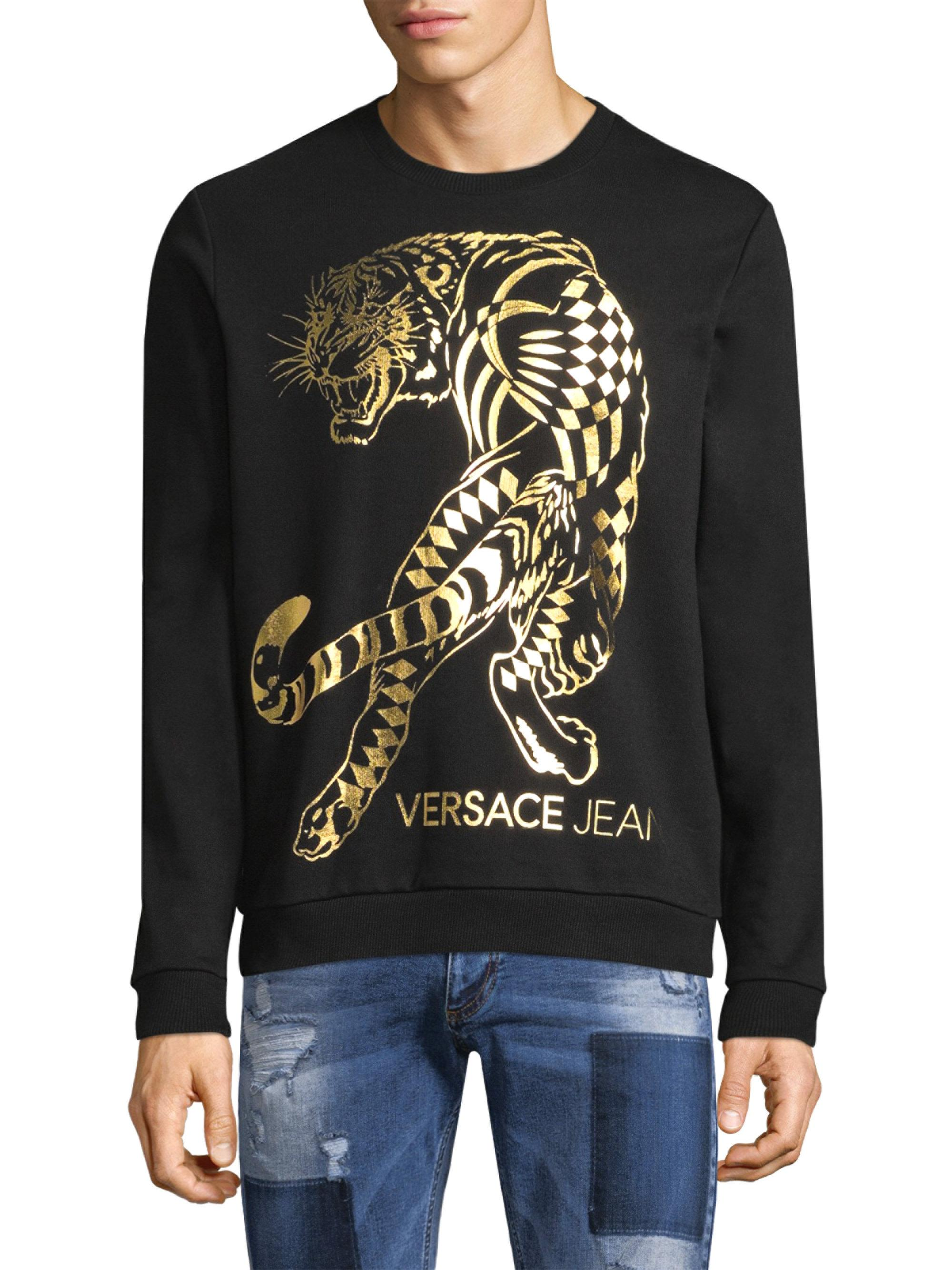 391ee60b Versace Jeans Tiger Foil Logo T Shirt