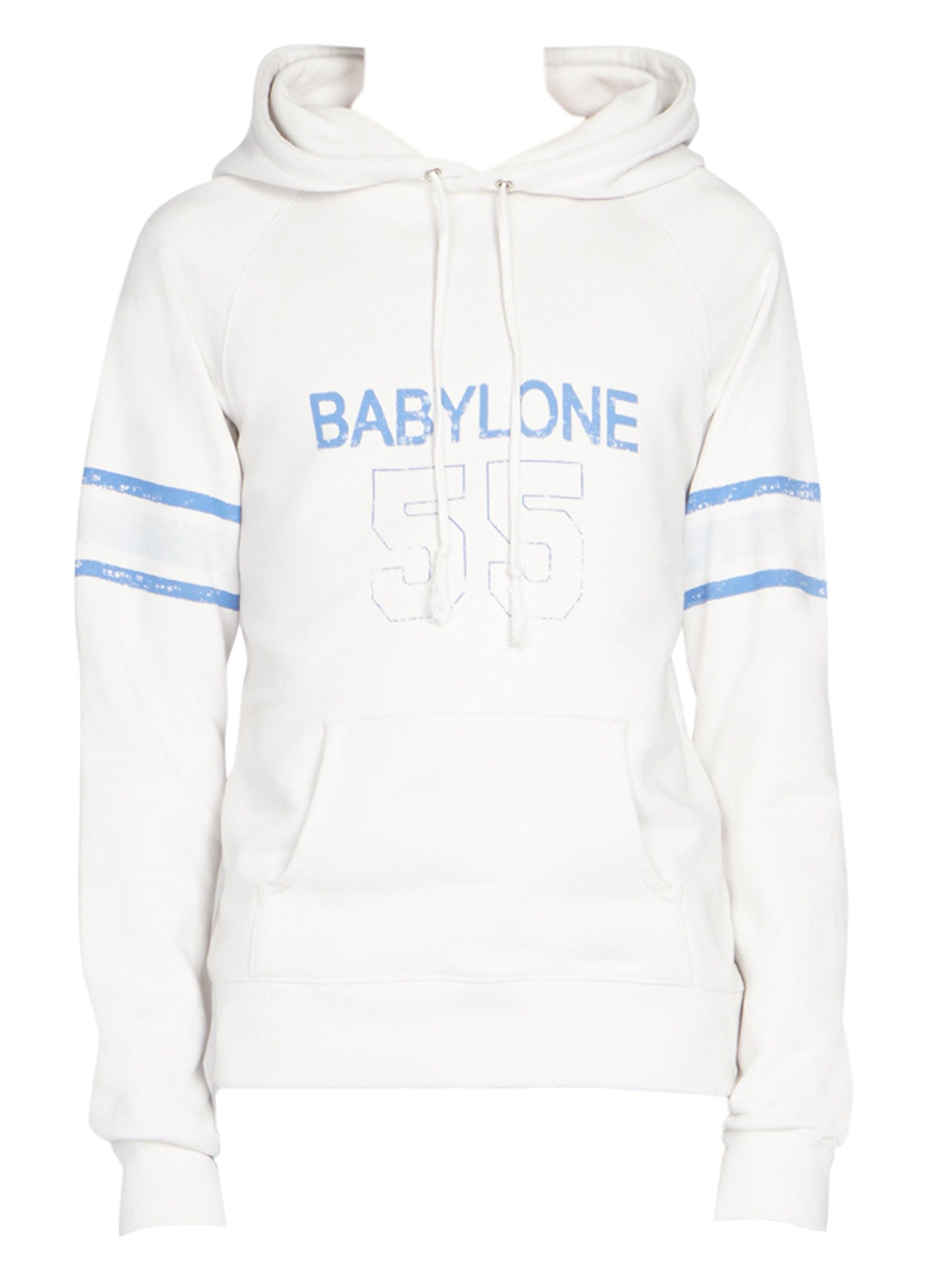49ac3c88f49 Lyst - Saint Laurent Babylone 55 Hoodie in White for Men - Save 31%