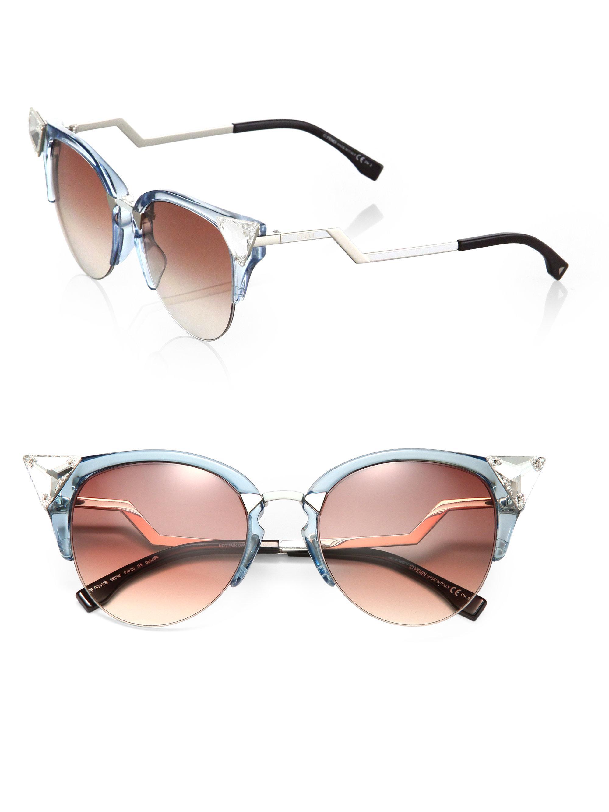 9f7229ee7 Fendi Edged Zig-zag Optyl Cat's-eye Sunglasses - Lyst