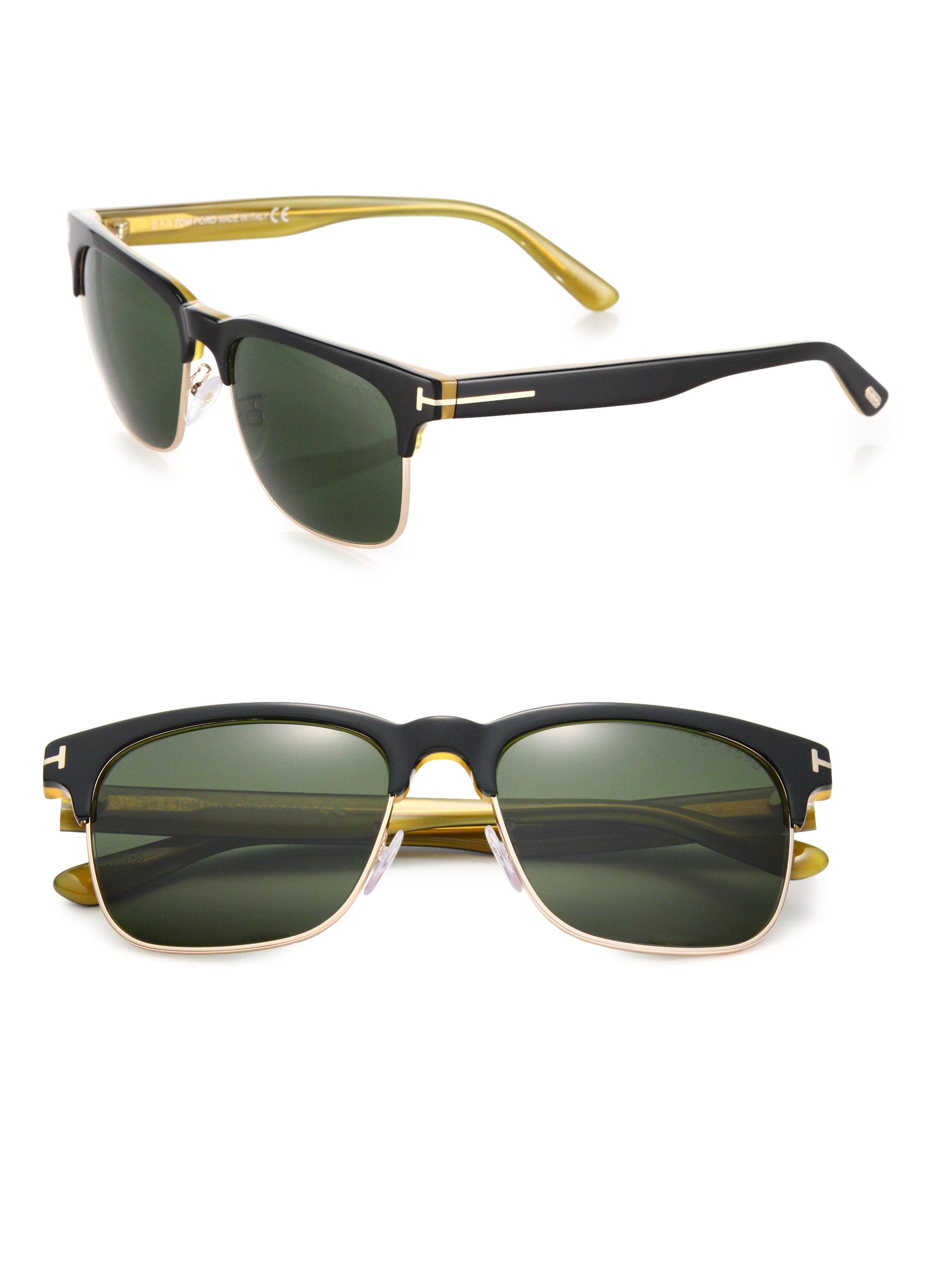 8a4f27fb203 Lyst - Tom Ford Louis 55mm Square Sunglasses in Black for Men