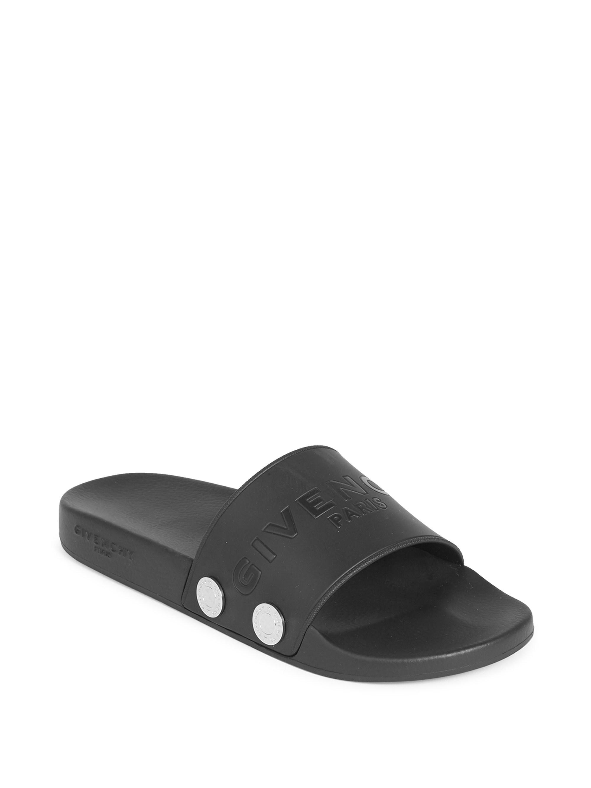 05e8959a3ca5 Lyst - Givenchy Logo Slide Sandals in Black for Men