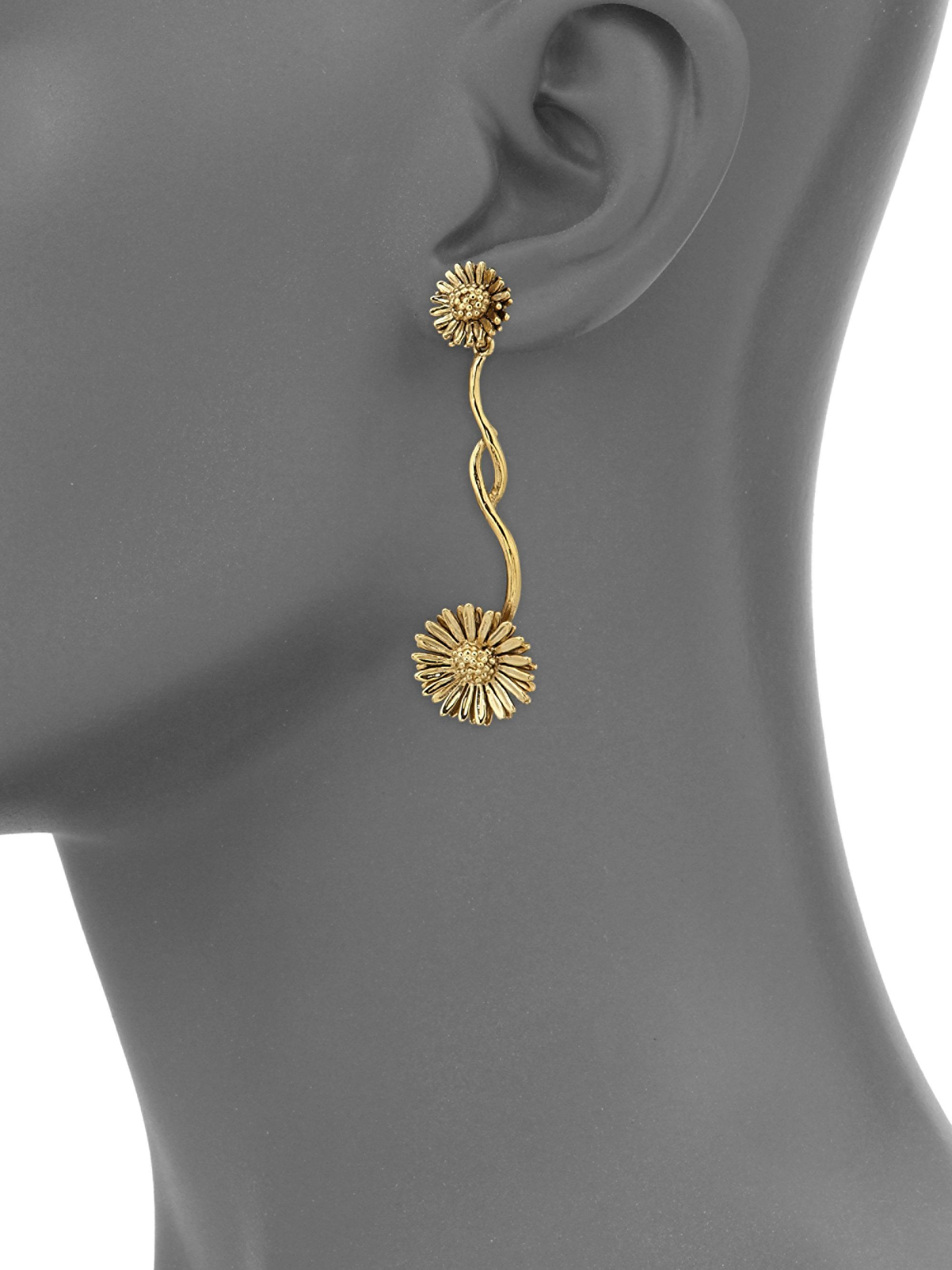 vermeil single eu rose london hires gold earring links earrings en grace of drop