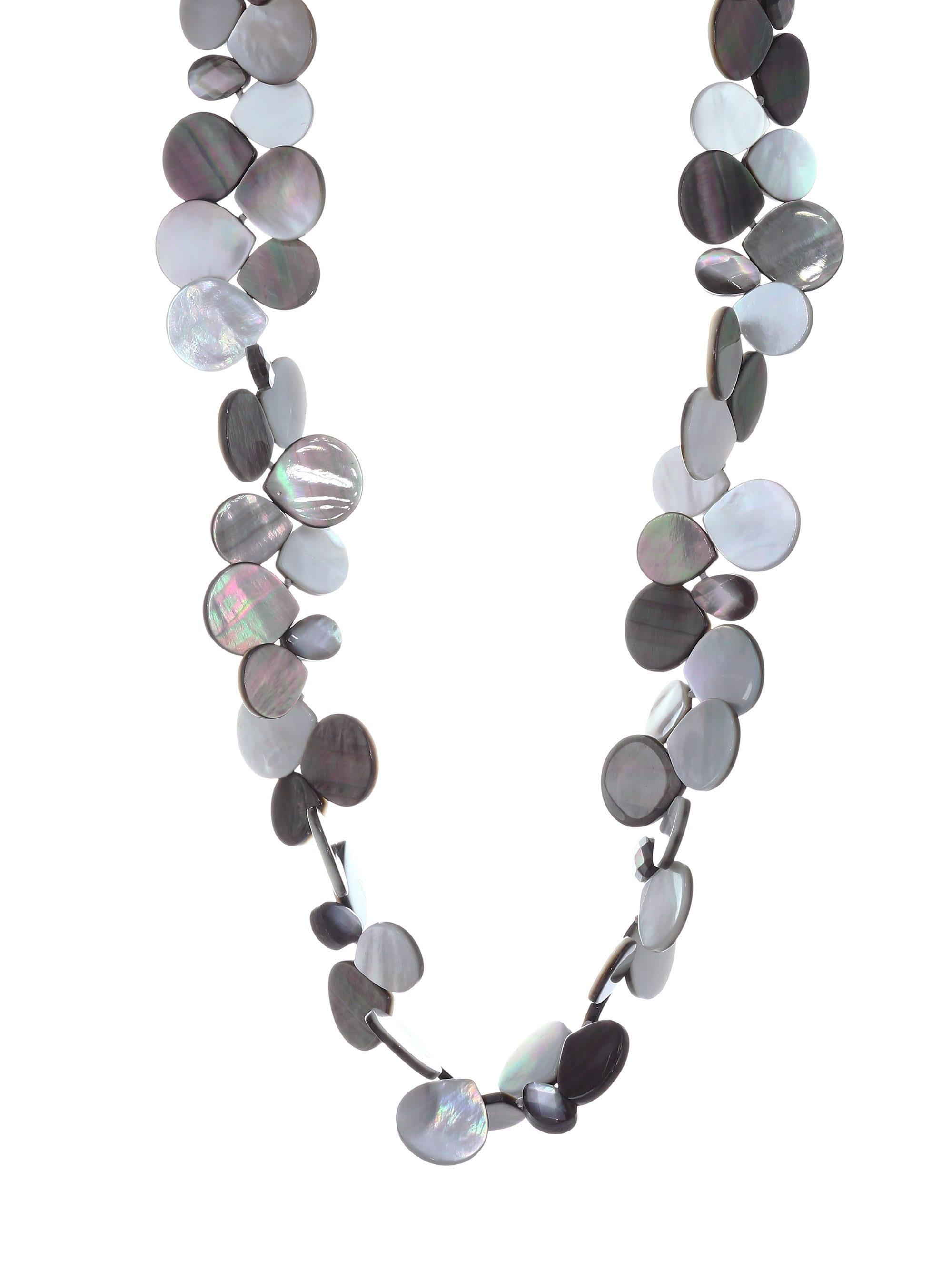a17f435715875 Lyst - Nest Mother Of Pearl Cluster Necklace in Gray