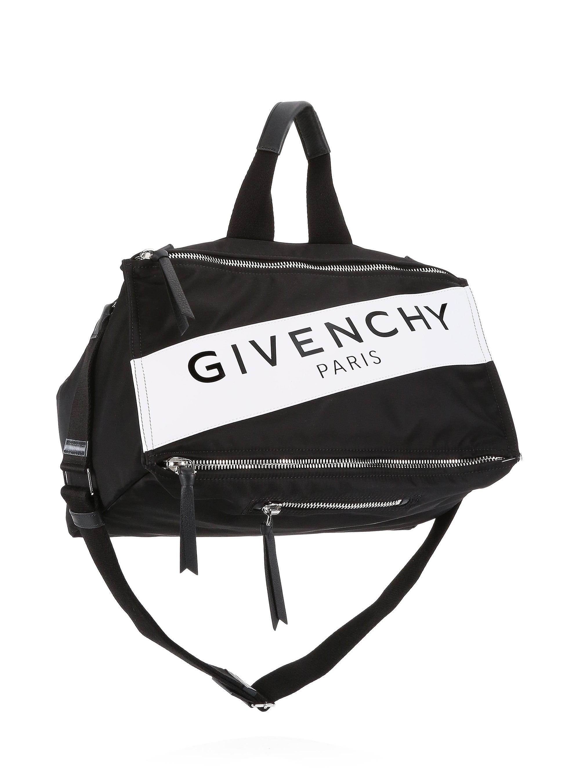 50ca74b263a0 Givenchy - Men s Pandora Logo Duffel Bag - Black White for Men - Lyst. View  fullscreen
