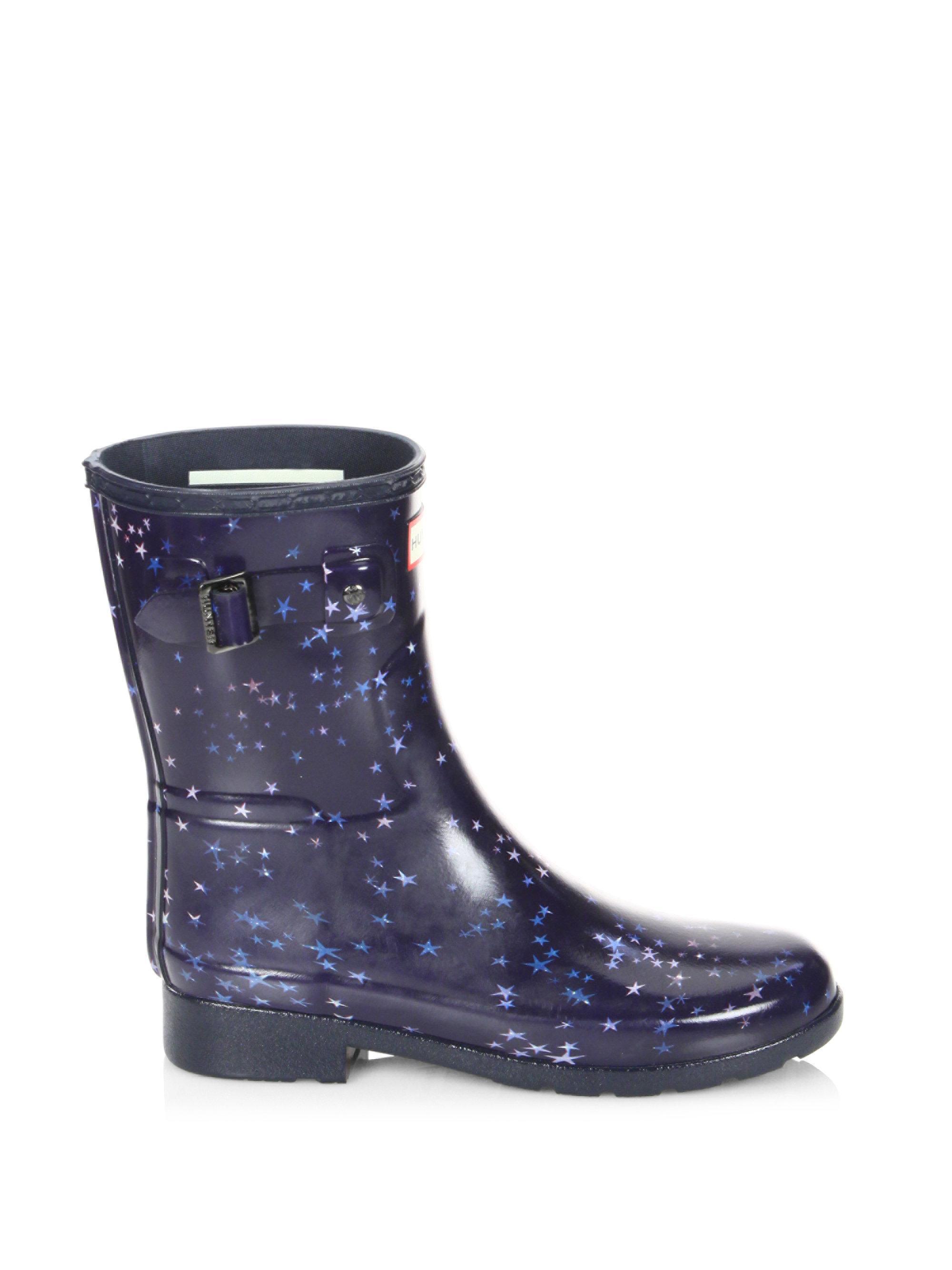 Lyst Hunter Refined Constellation Print Short Rain Boots