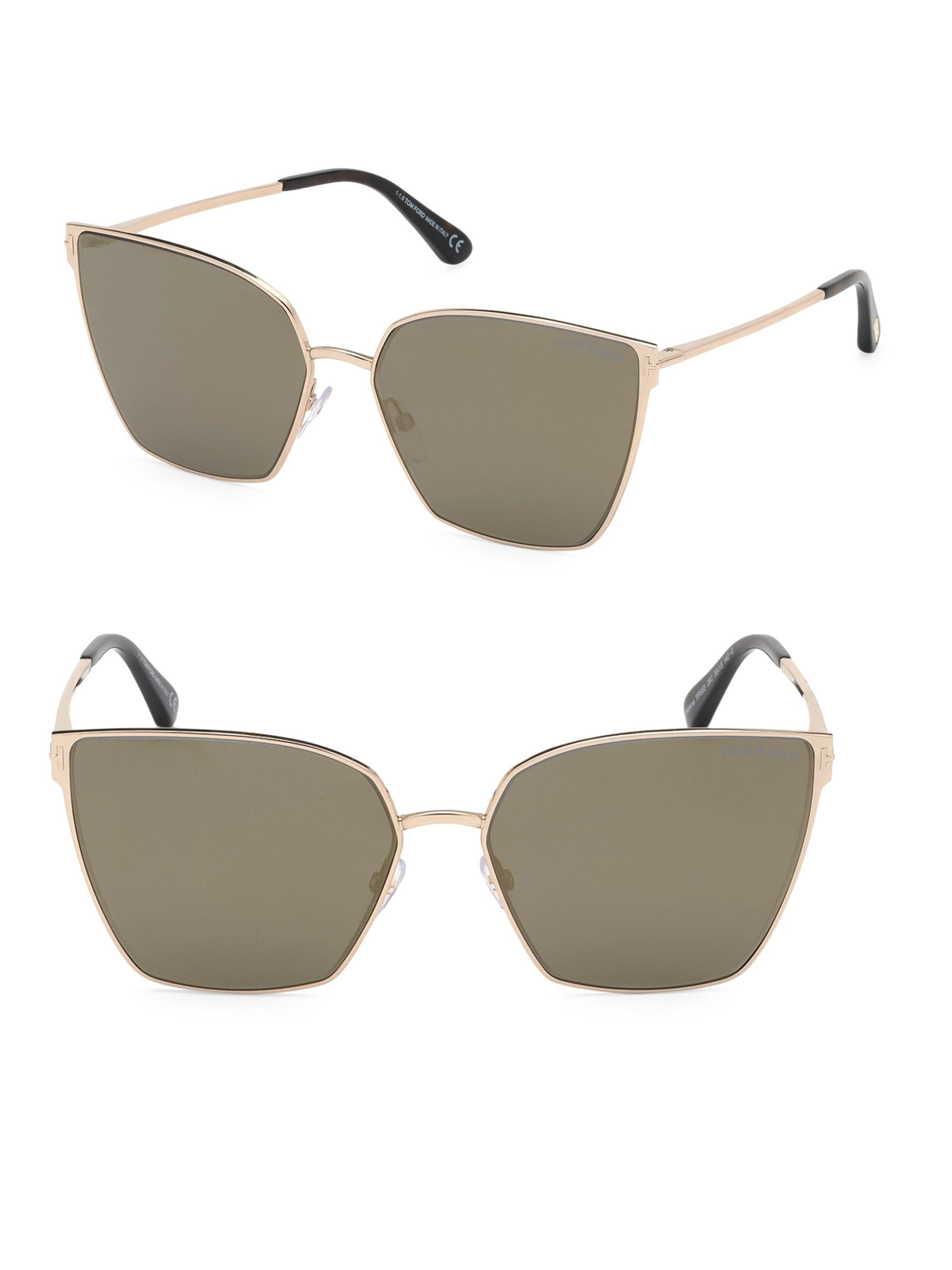 4cad852875 Tom Ford. Women s Helena 59mm Cat Eye Sunglasses - Gold Smoke.  460 From Saks  Fifth Avenue