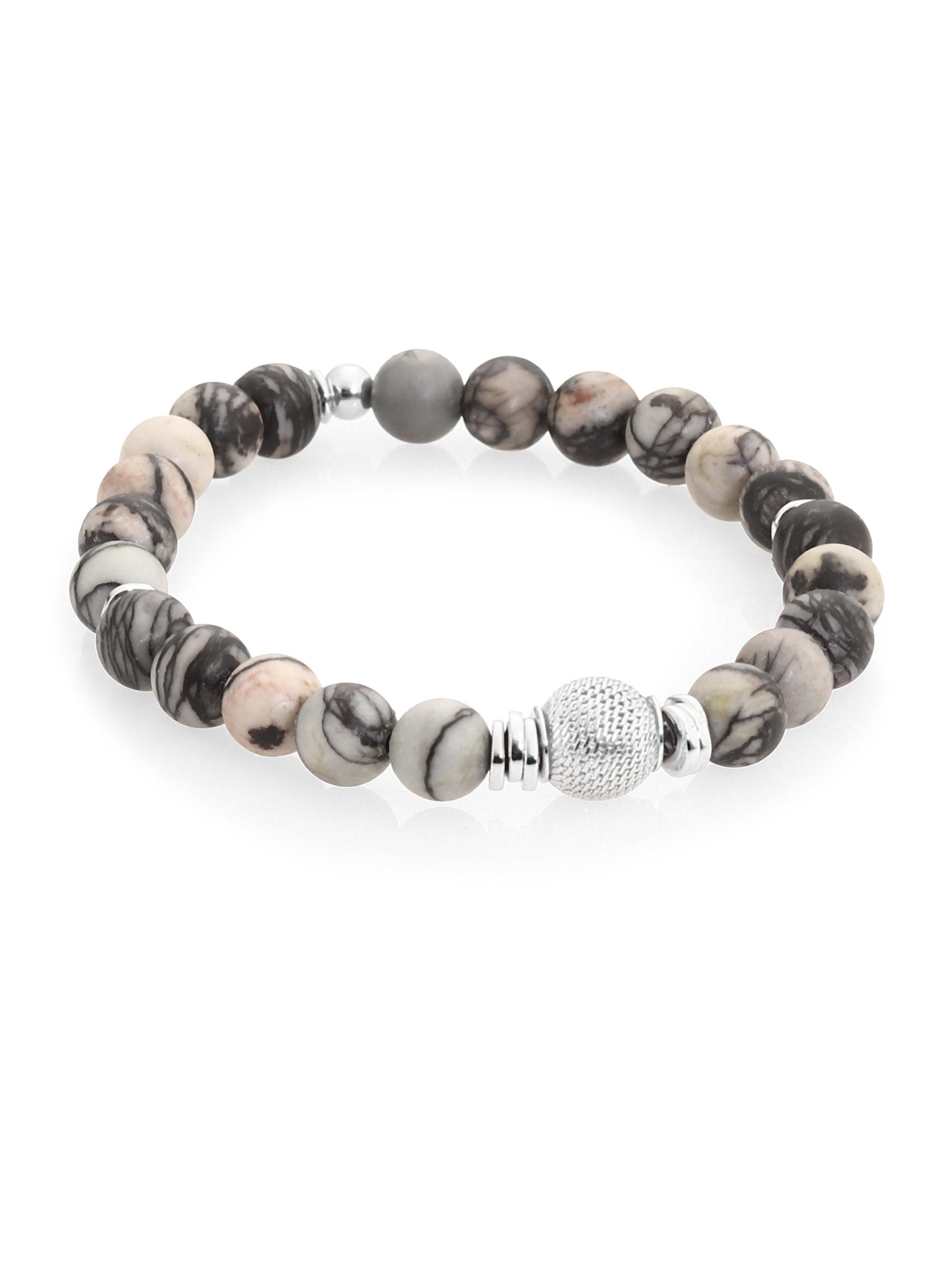 stretch crucible bead stone finish steel mens dragon men polished with bracelet antiqued products stainless clasp s beaded collections