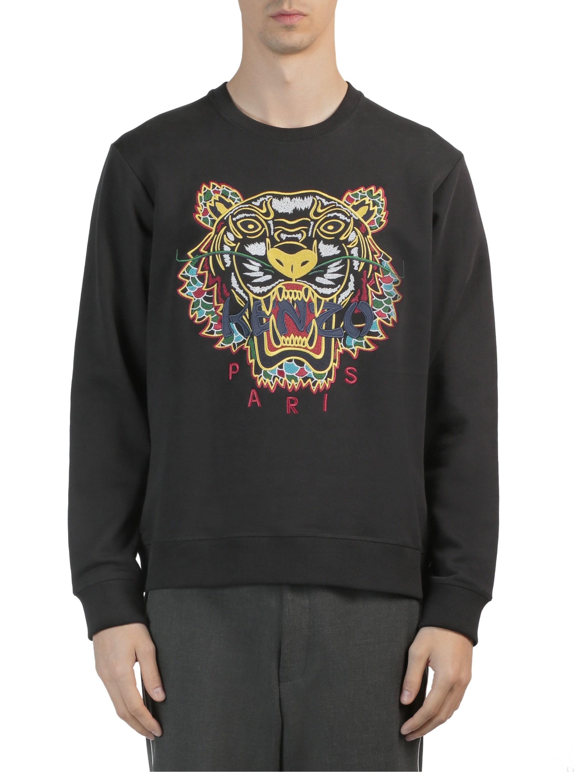 f8ad8b606 KENZO Men's Dragon Tiger Sweatshirt - Black in Black for Men - Lyst