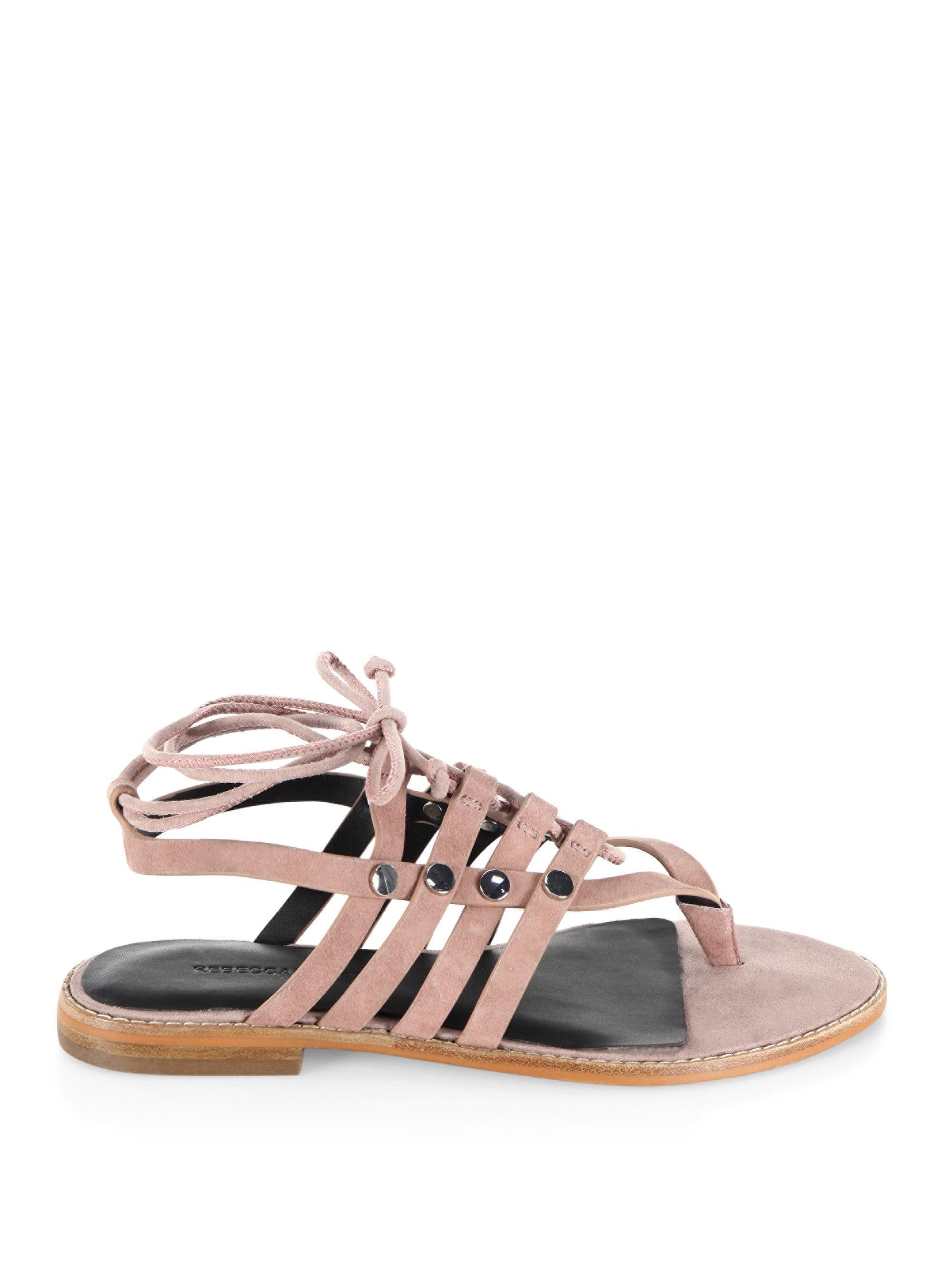 Lyst Rebecca Minkoff Evonne Leather Flat Sandals