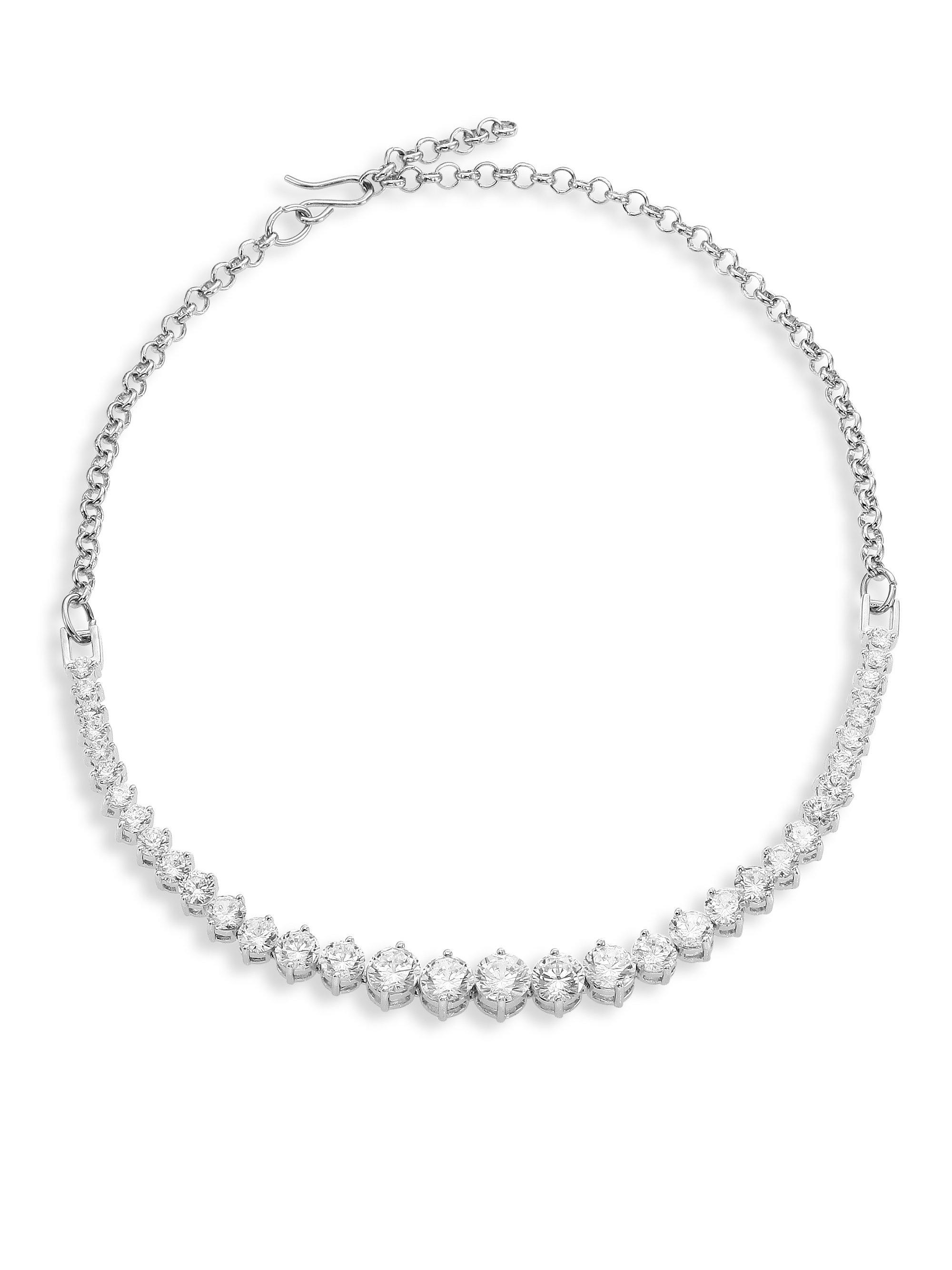 Fallon Womens Jagged Edge Y-Chain Necklace AMnYzW