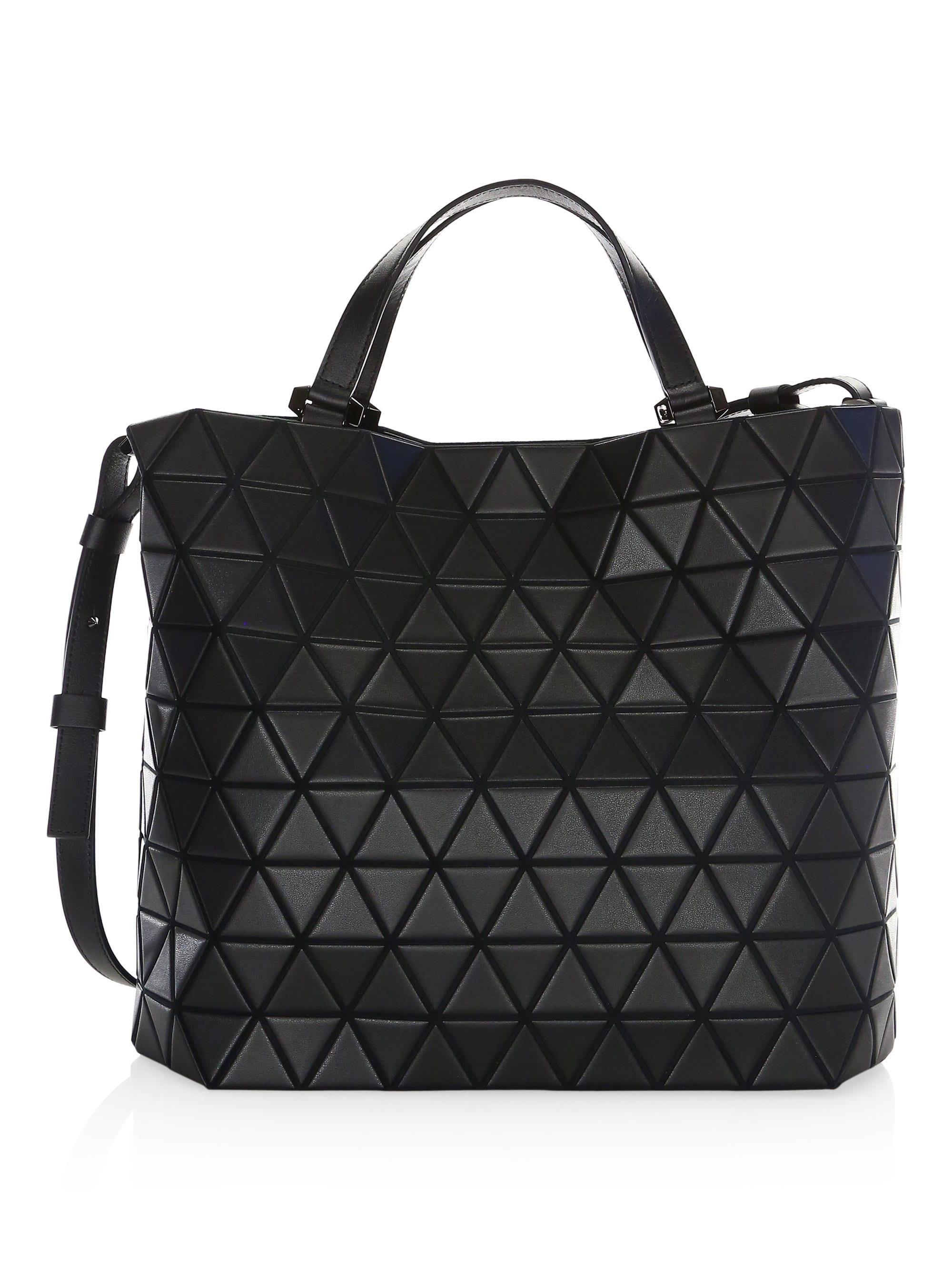 ed909097de Bao Bao Issey Miyake Women s Crystal Matte Leather Tote - Black in ...