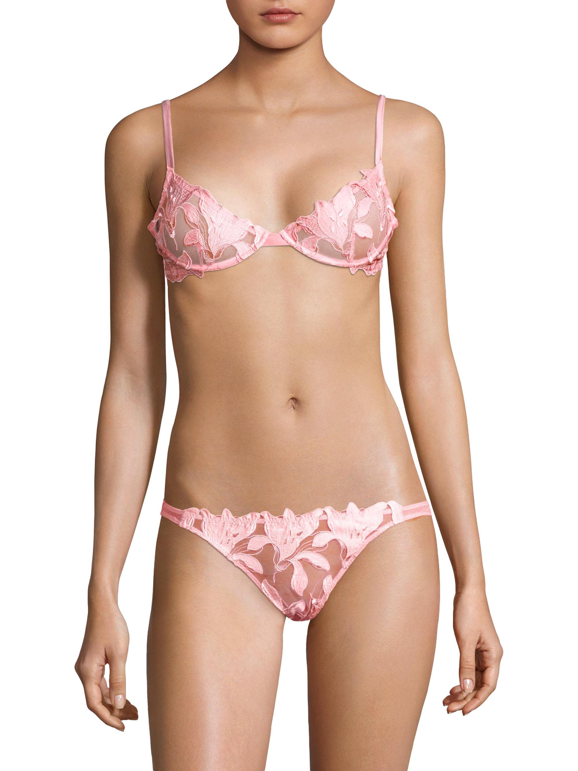 long triangle bikini top - Pink & Purple Fleur du Mal Really Cheap Online Low Shipping For Sale Shop Offer Sale Online 63VeYfhs
