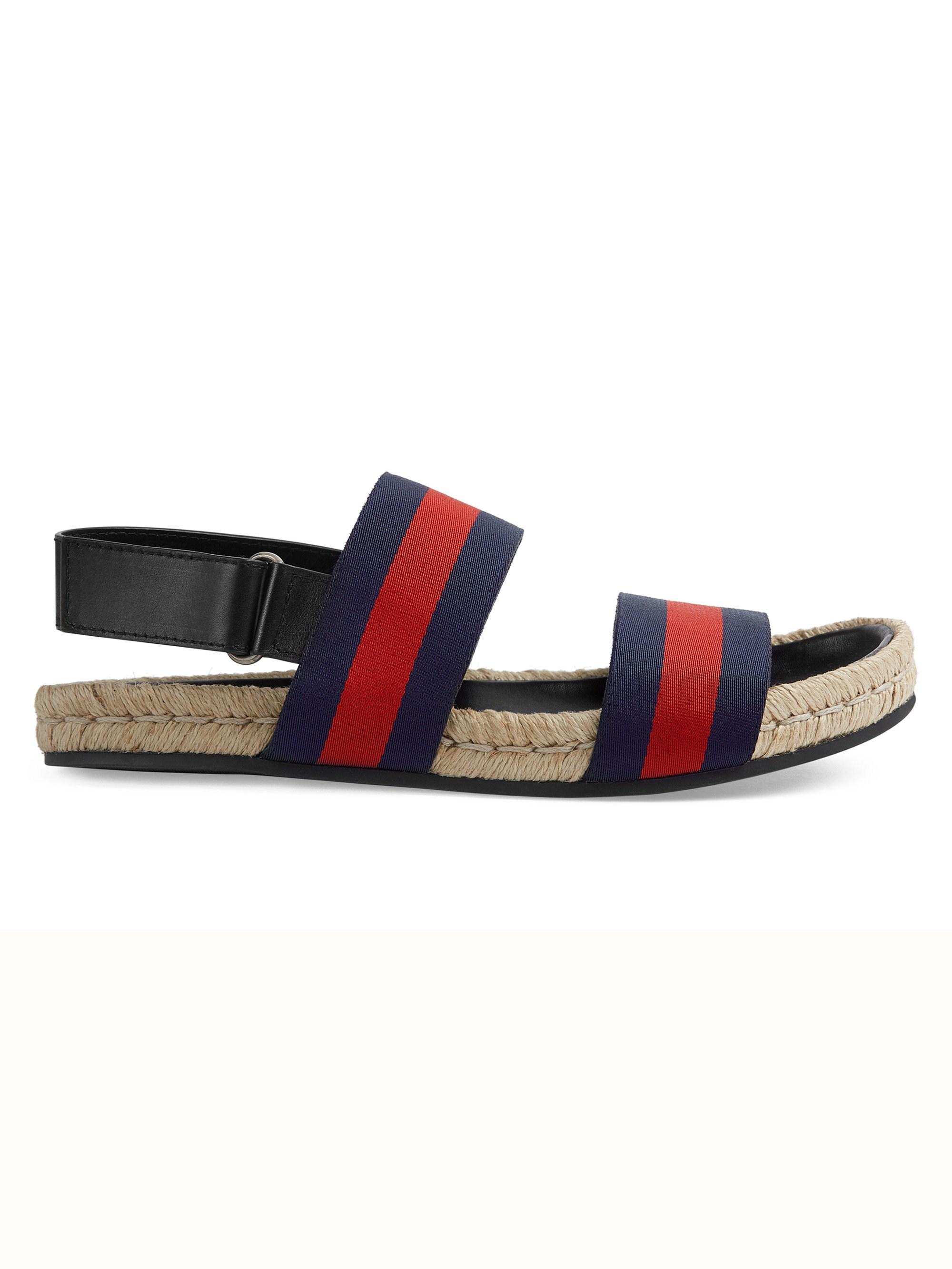 4ef2a8910 Gucci Web Strap Sandals in Blue for Men - Lyst