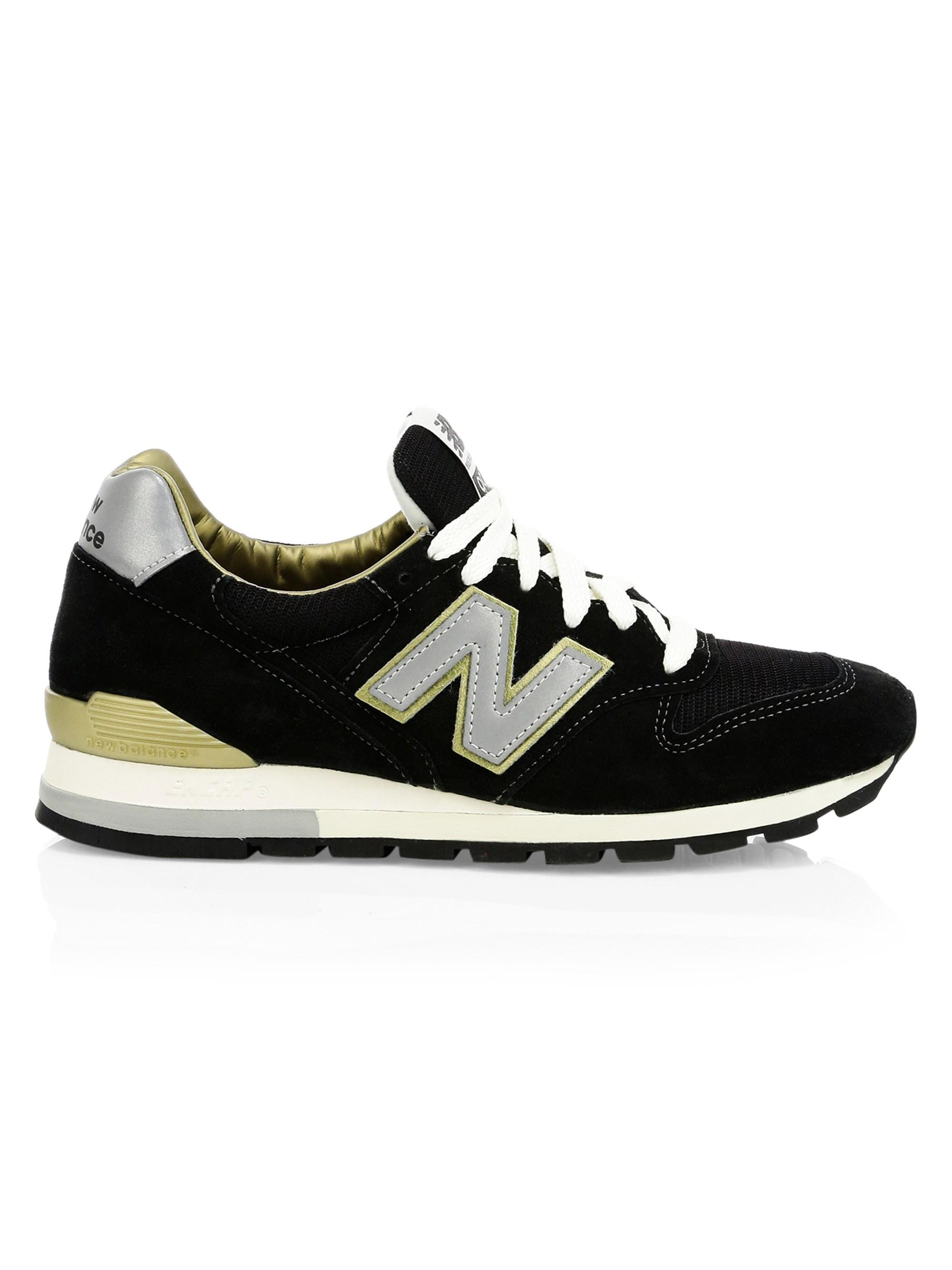 87b5c79f9dcdf New Balance - Men's 996 Made In Usa Suede Sneakers - Black - Size 7.5 D