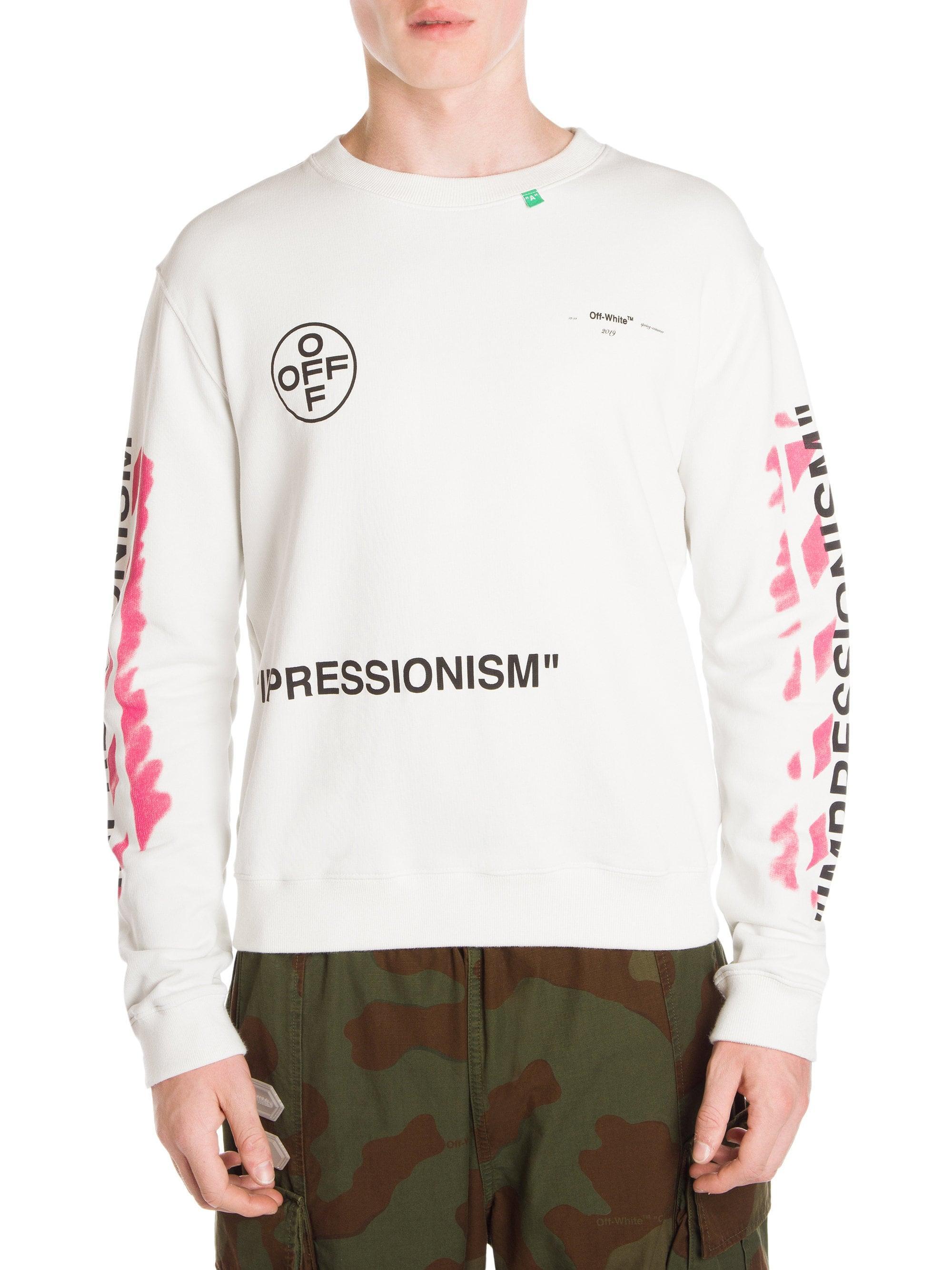 6ca3f03917 Lyst - Off-White c o Virgil Abloh Men s Diagonal Stencil Sweatshirt ...