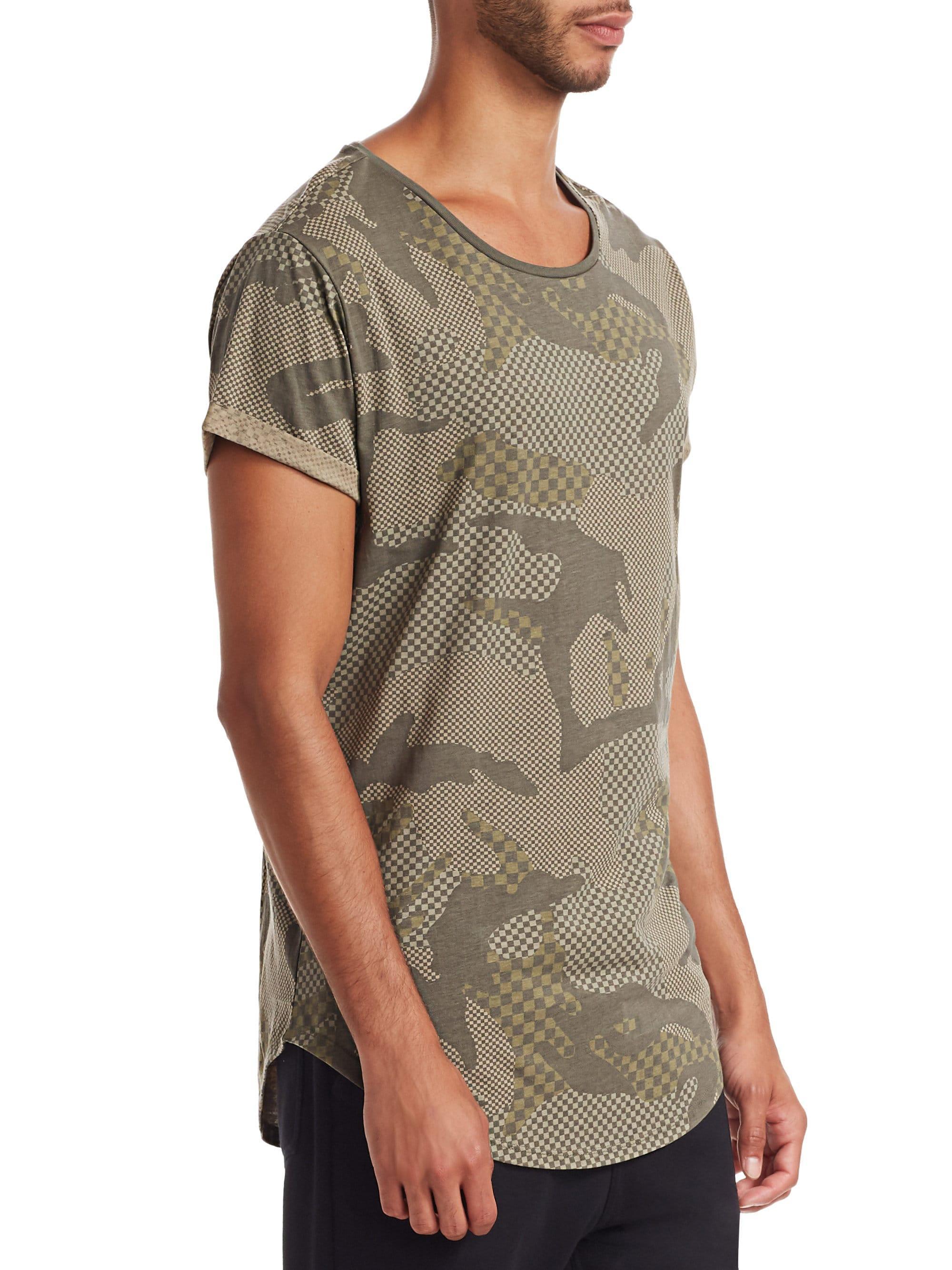a5200e611a G-Star RAW Vontoni Camo T-shirt in Green for Men - Lyst