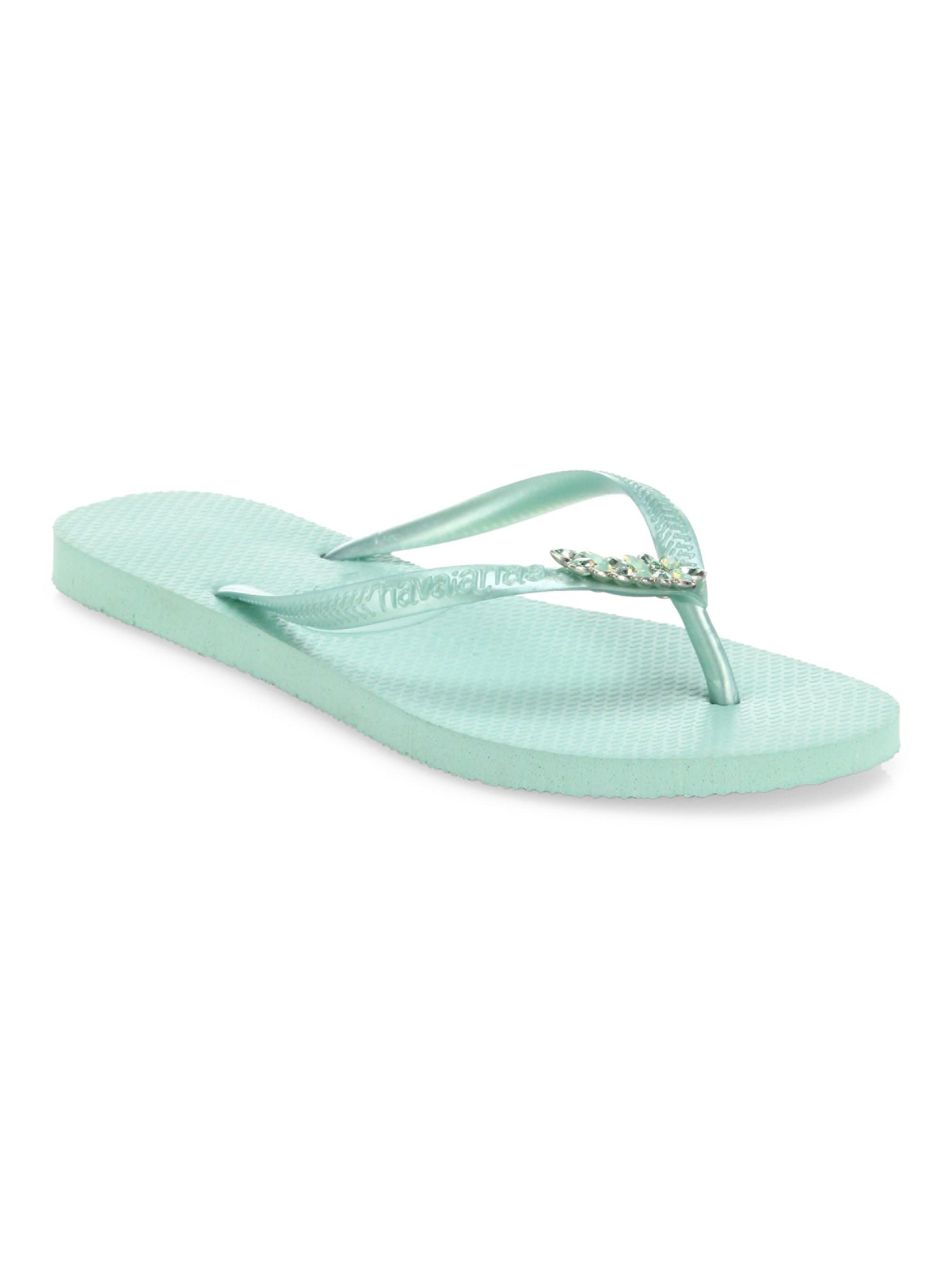3af43e7f9 Havaianas Women s Slim Lux Swarovski Crystal Flip Flops - Sand ...