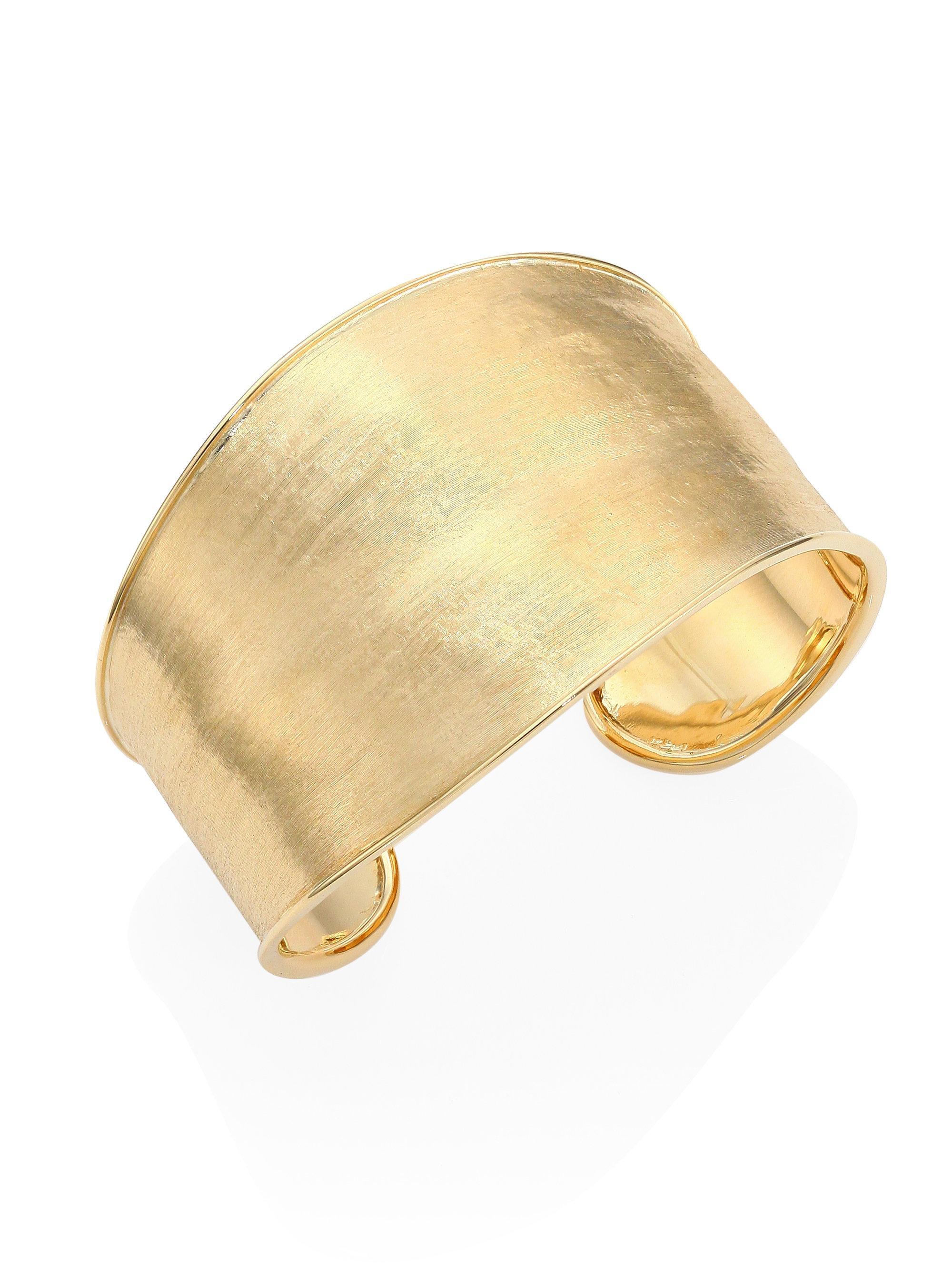Marco Bicego Lunaria Cuff Bracelet in 18K Yellow Gold AV5FWtx