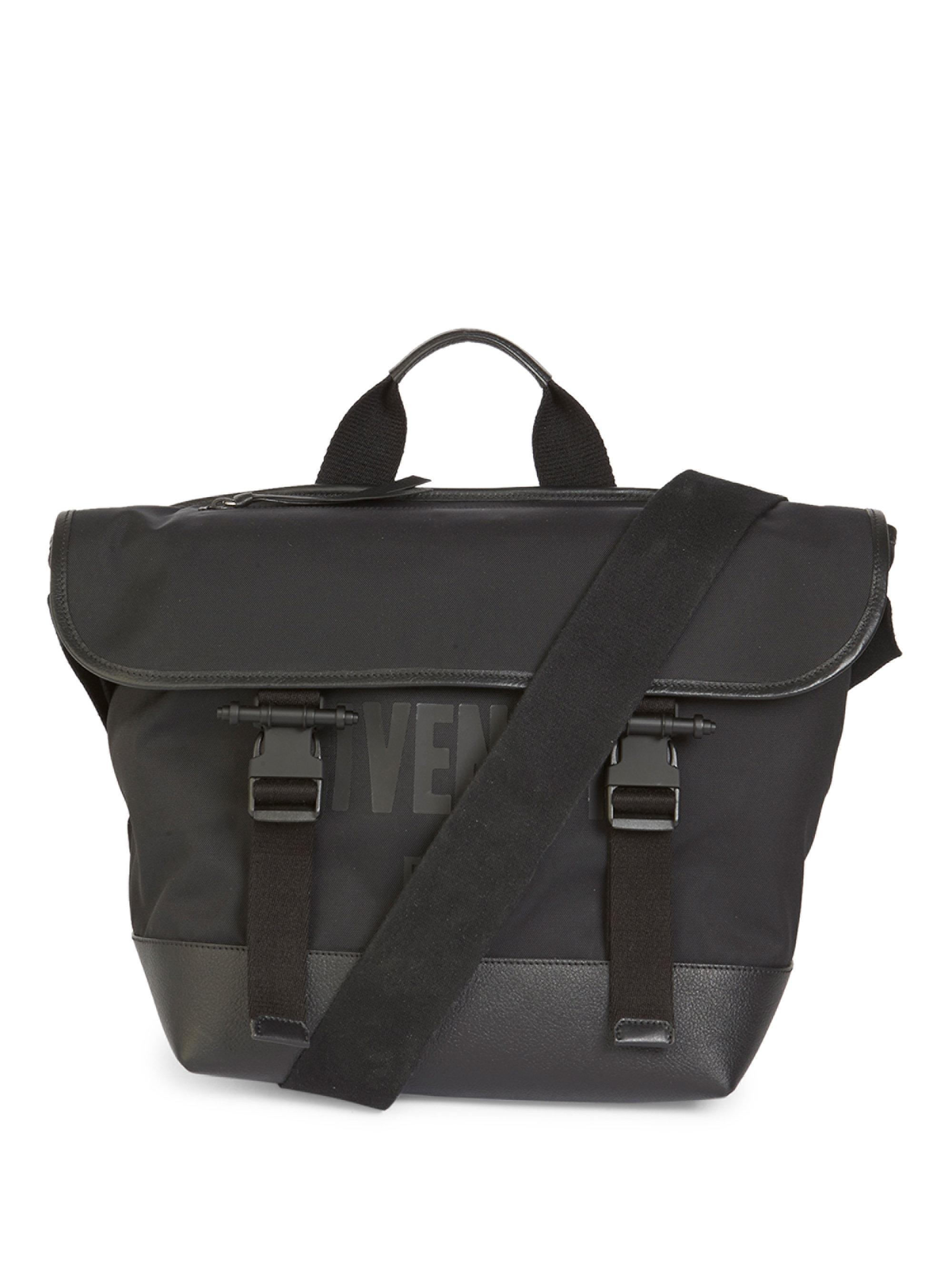 c889587fa4ad Givenchy Logo Detailed Messenger Bag in Black for Men - Lyst