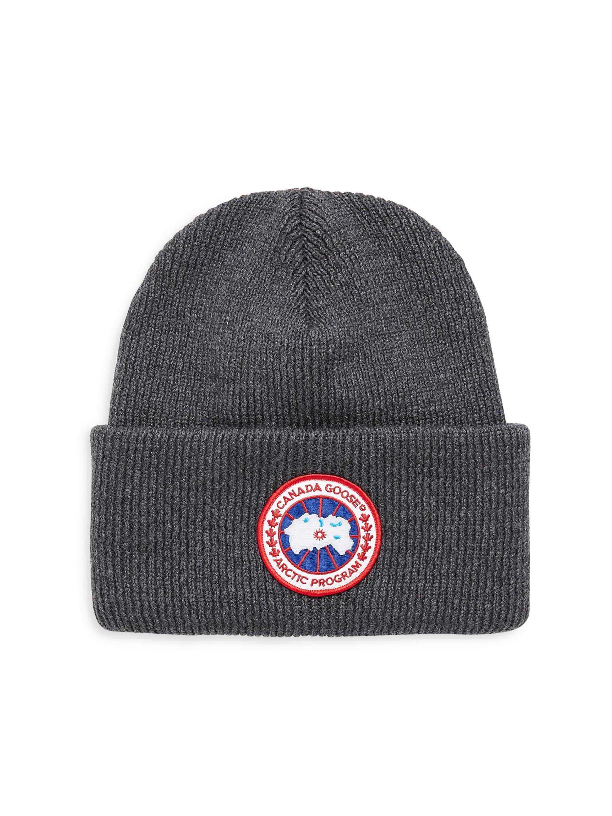 4e6de4fda14 Canada Goose Arctic Wool Beanie in Gray for Men - Lyst