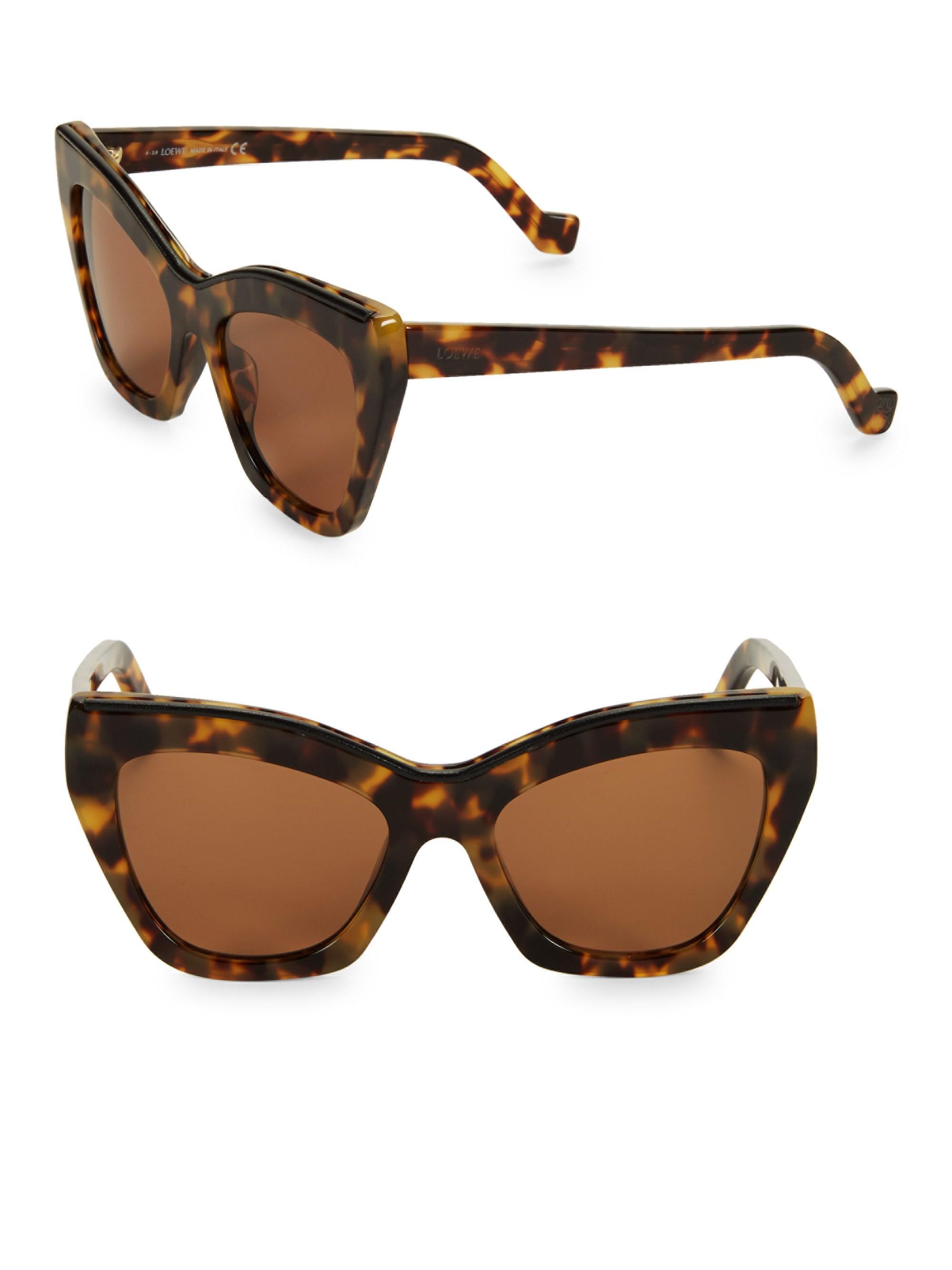 Sunglasses In Lw40014u Loewe Havana 55mm Lyst Cat Eye Brown Women's qvZ8fxvwTY