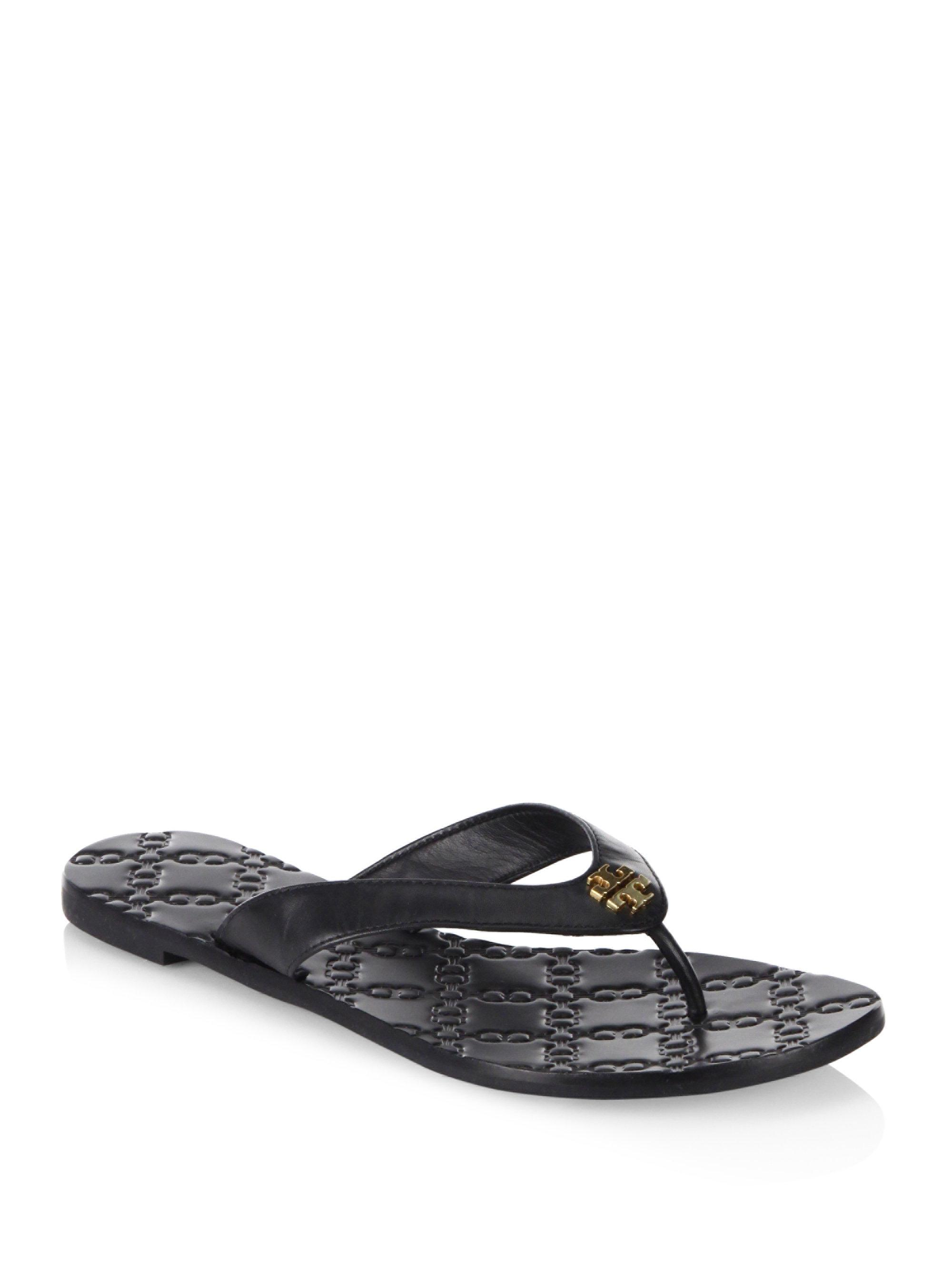 Tory Burch Monroe Leather Thong Sandals se5tG