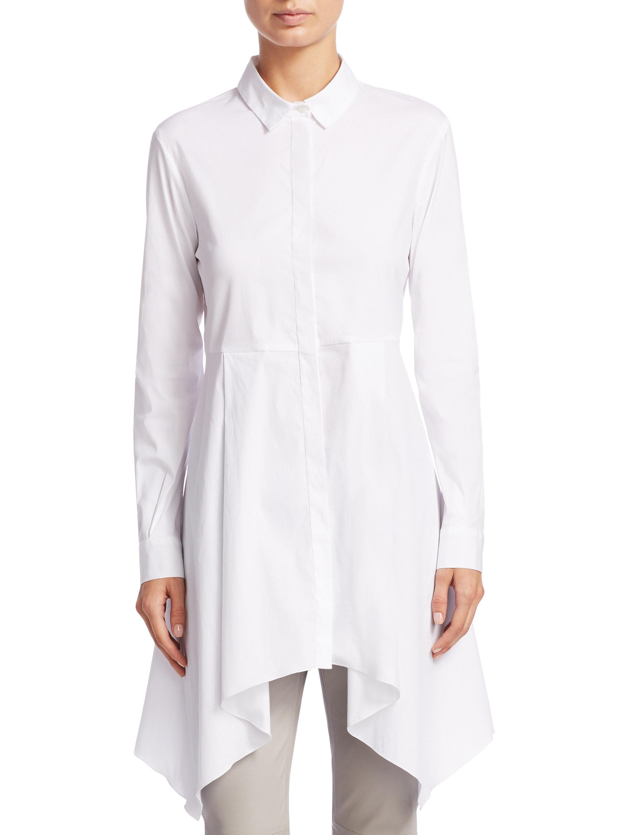 belted collar shirt - White Fabiana Filippi Clearance Brand New Unisex Free Shipping Shopping Online Really Cheap Online LG9UZ4c
