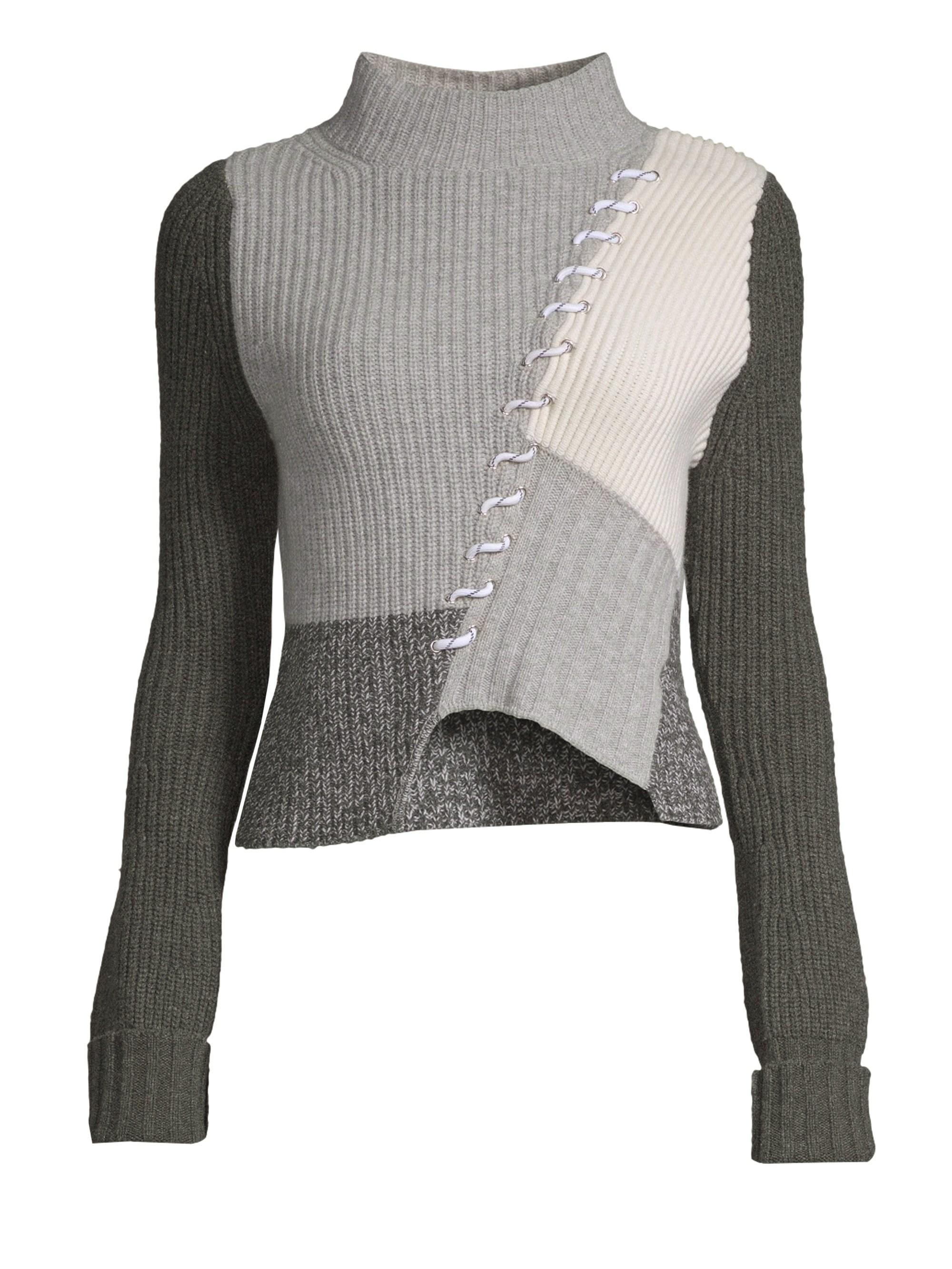 d1de9d9f7c1f Lyst - Zoe Jordan Women s Kelly Colorblock Wool   Cashmere Sweater ...