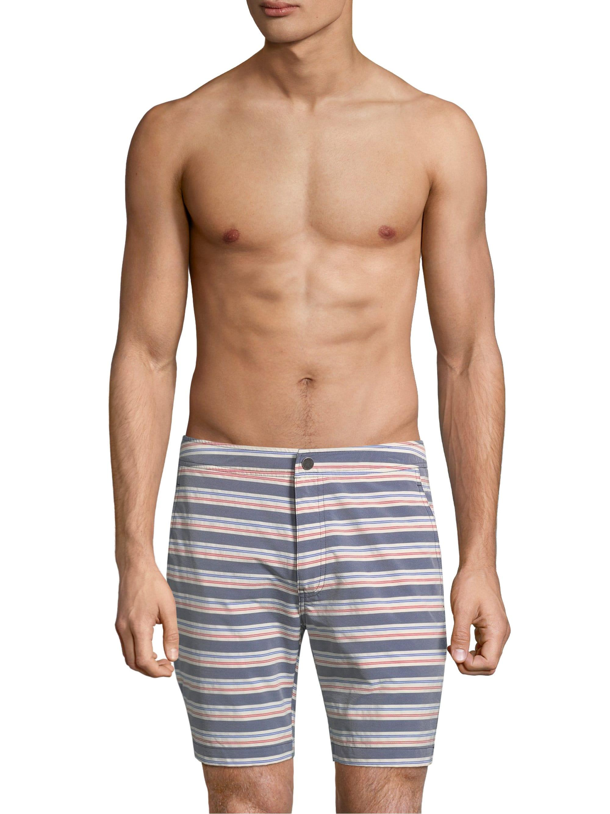 188c0a52cbbab Lyst - Onia Men's Americana Stripe Calder Swim Trunks - Size 38 in ...