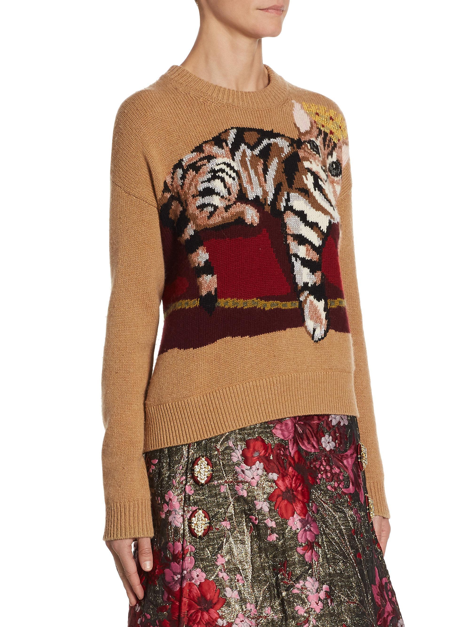 fa6a0ee5870de4 Dolce & Gabbana Intarsia Cat-print Knit Sweater - Lyst