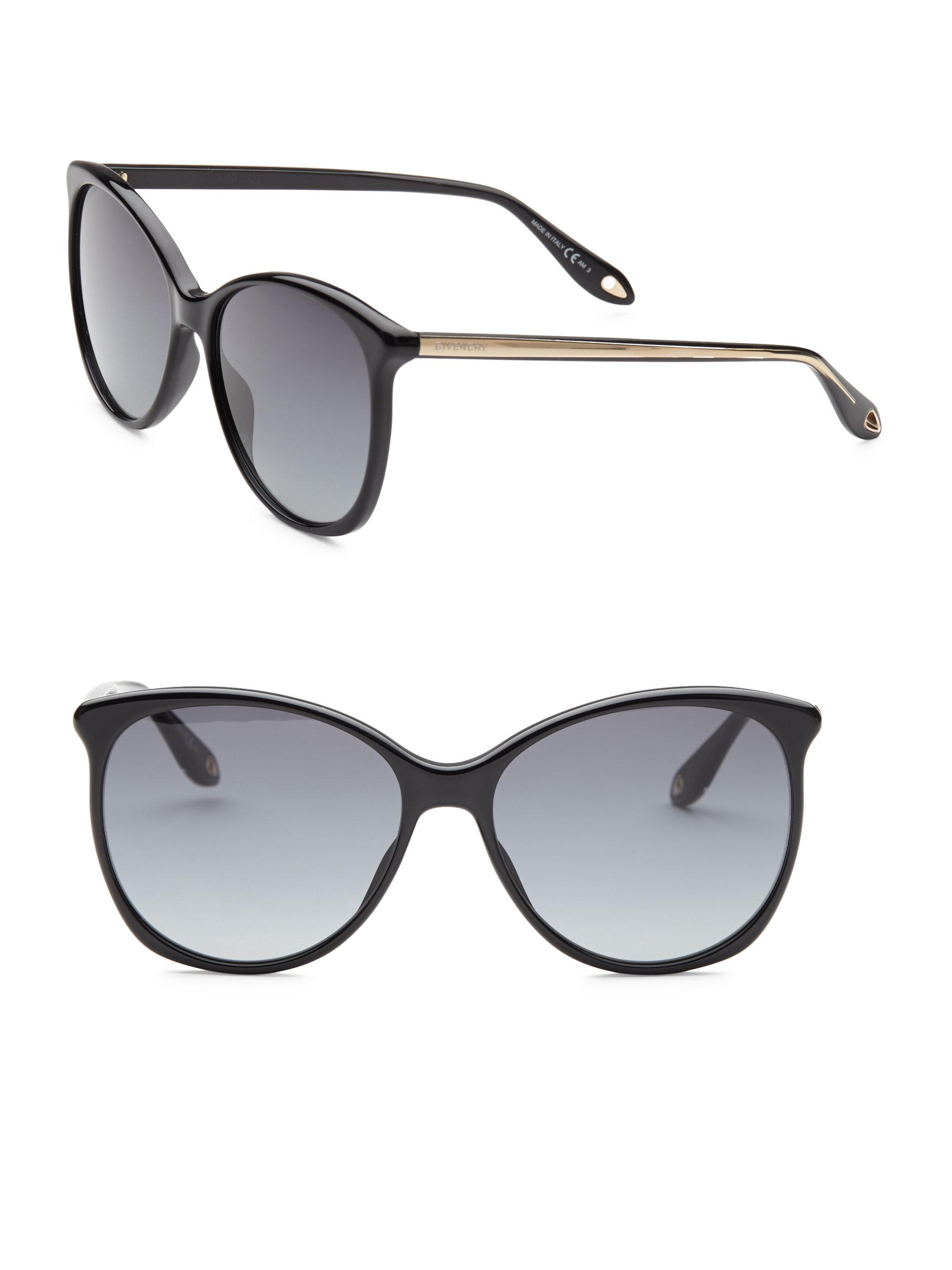 dd66c852c99 Givenchy 58mm Cat Eye Sunglasses in Black - Lyst