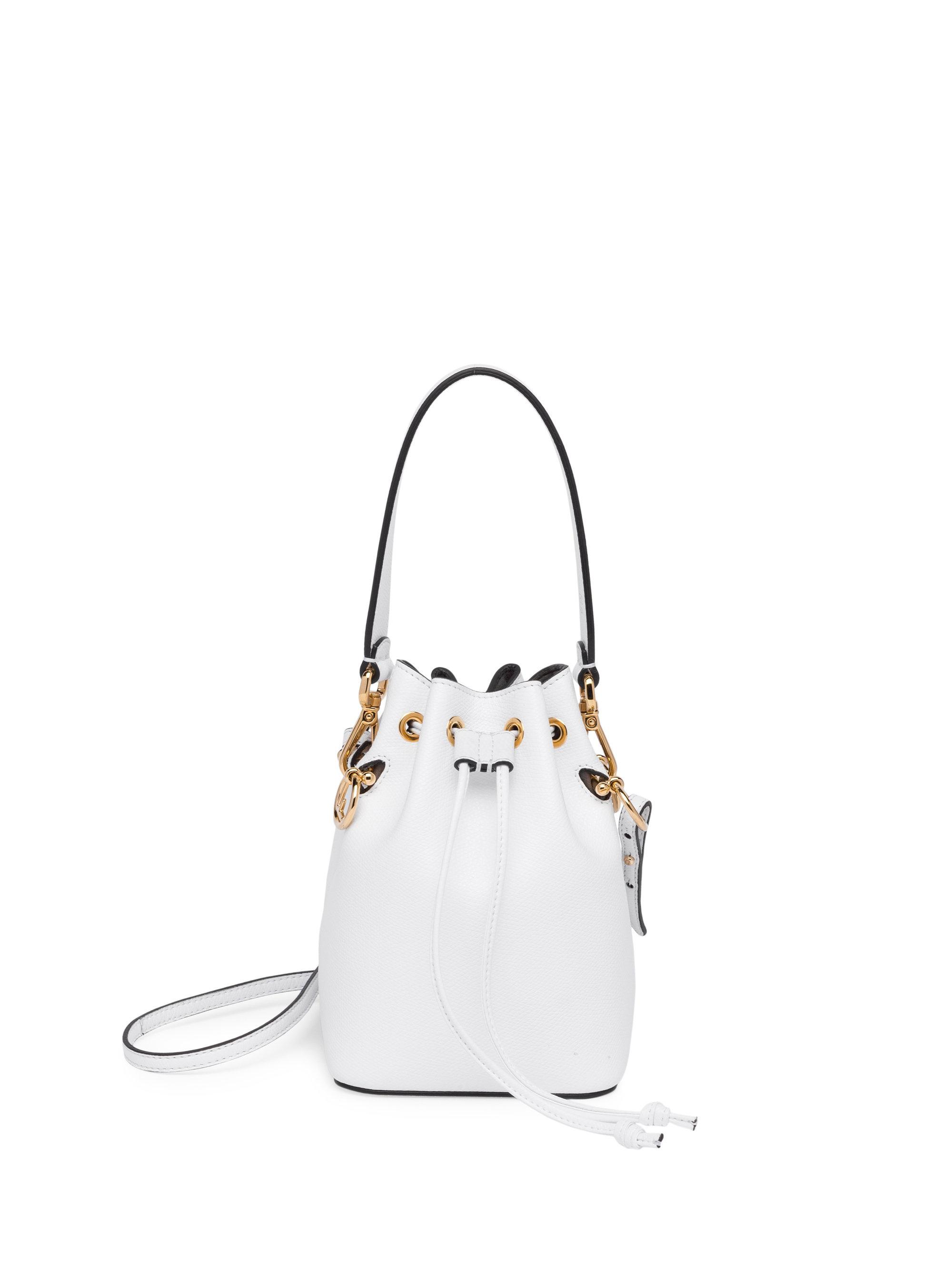 f51d26a4d80 Lyst - Fendi Mon Tresor Leather Bucket Bag in White