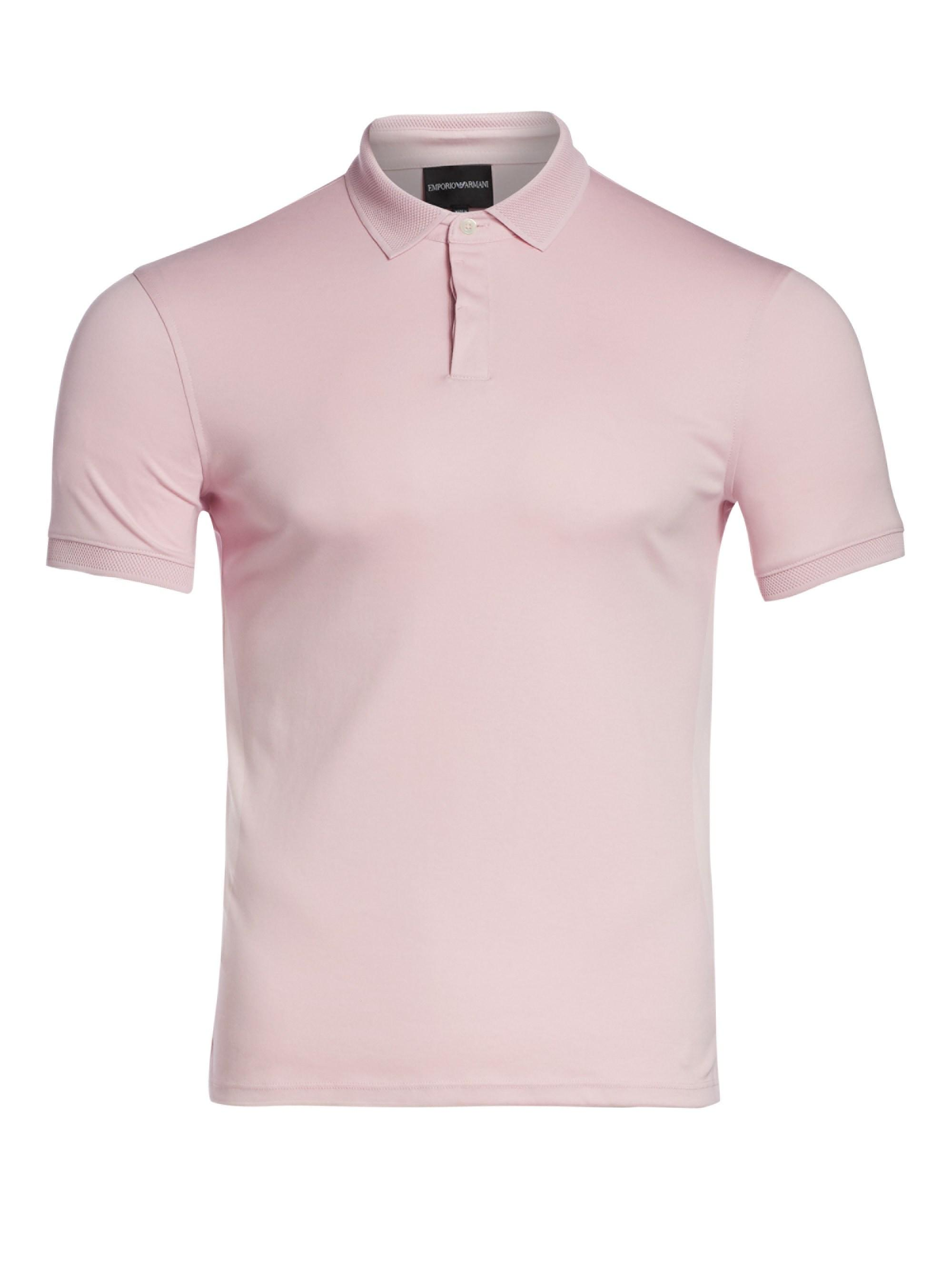 8d6a4549 Lyst - Emporio Armani Men's Pique Polo Shirt - Pink - Size Xxxl in ...