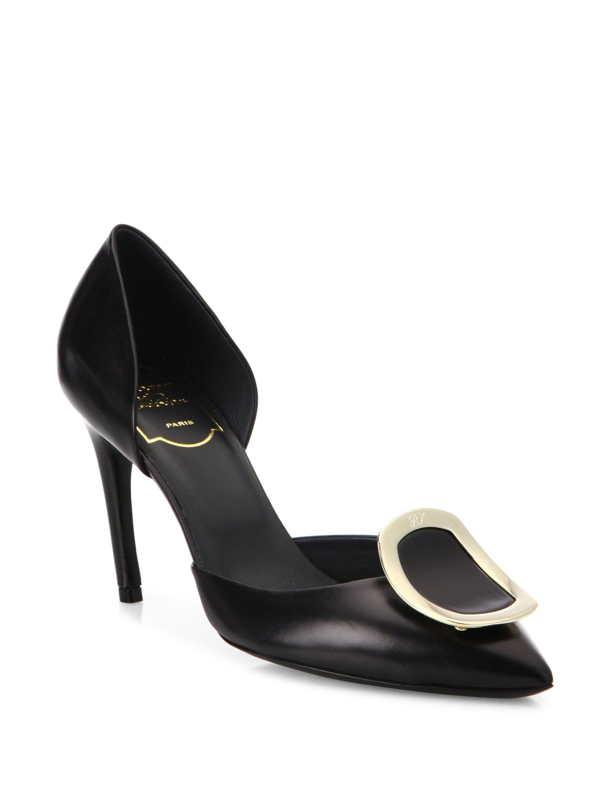 Roger Vivier Chips leather pumps 9faiW9ey