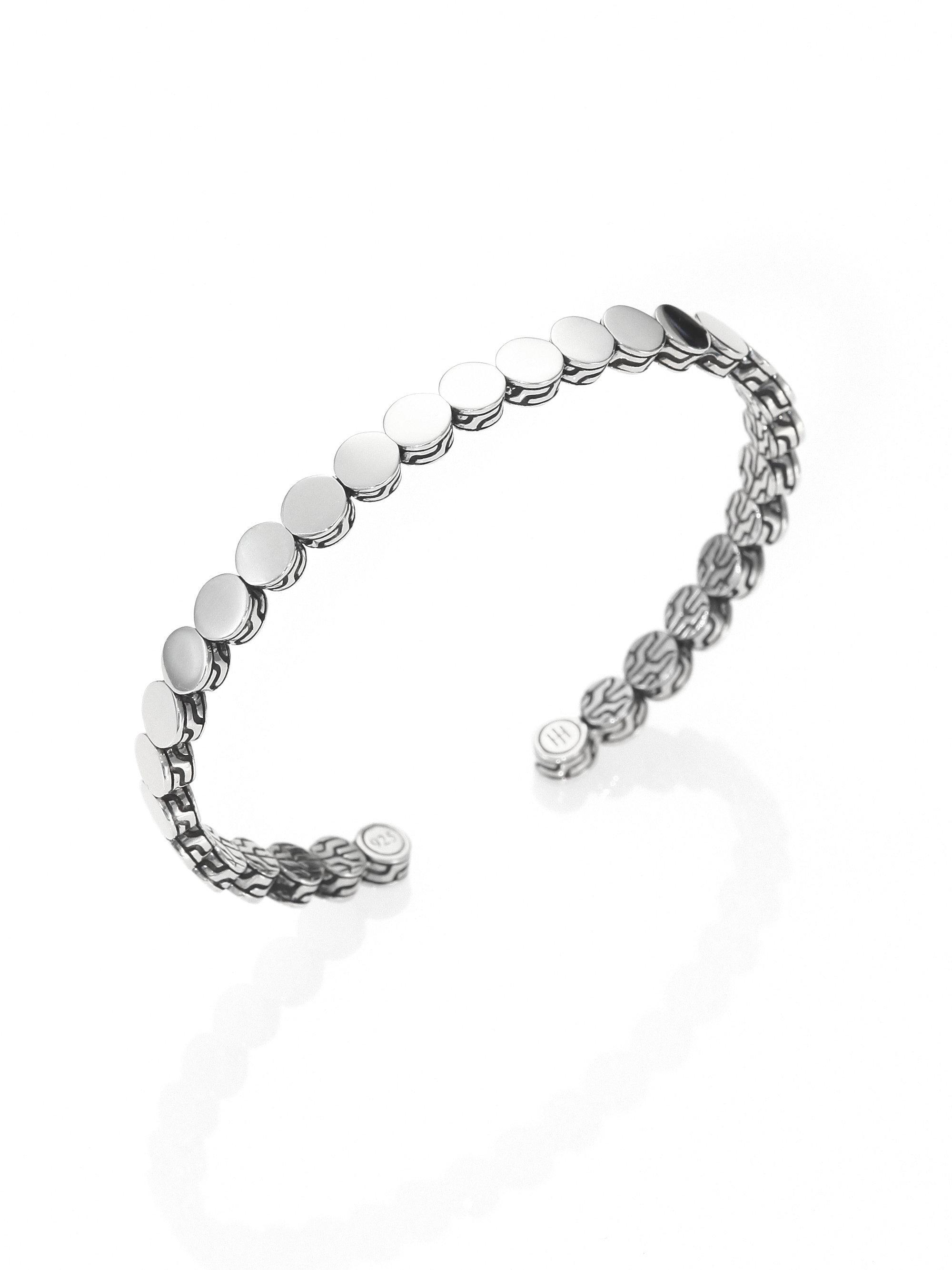 lyst john hardy dot sterling silver slim cuff bracelet
