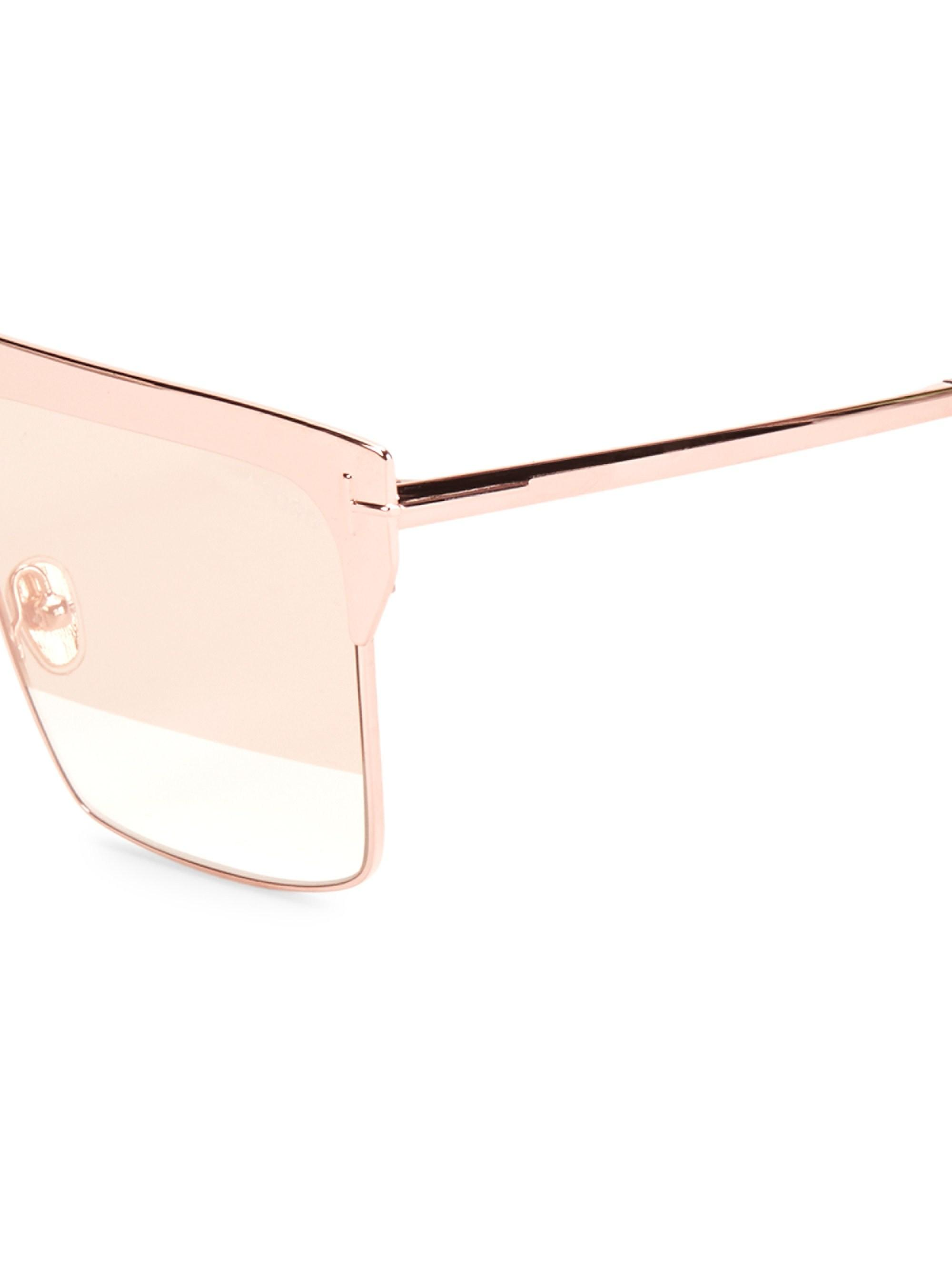 e6afdc12e3b2 Tom Ford - Multicolor Women s West 59mm Square Rose Goldplated Sunglasses -  Rose Gold - Lyst. View fullscreen