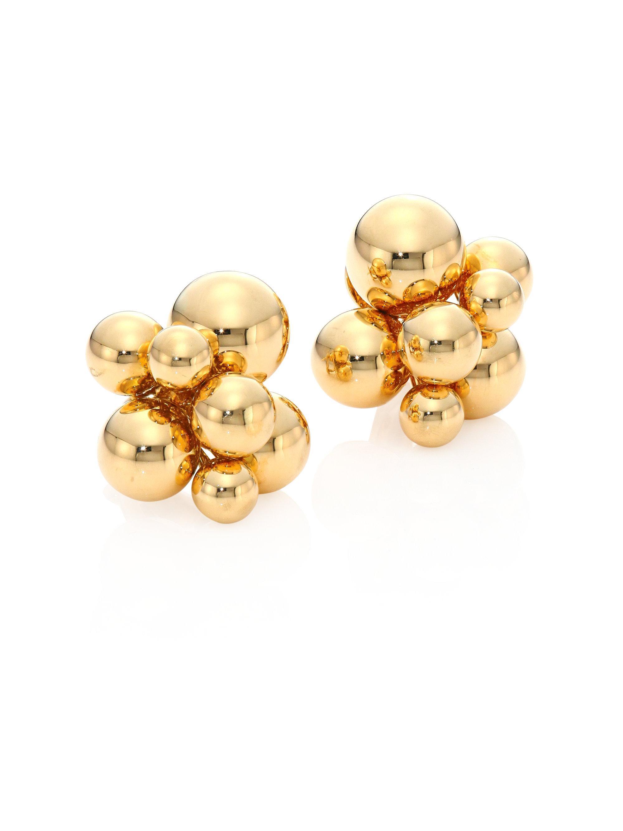 Marina B Atomo 18k Yellow Gold Cluster Ring 3LsGFY3b