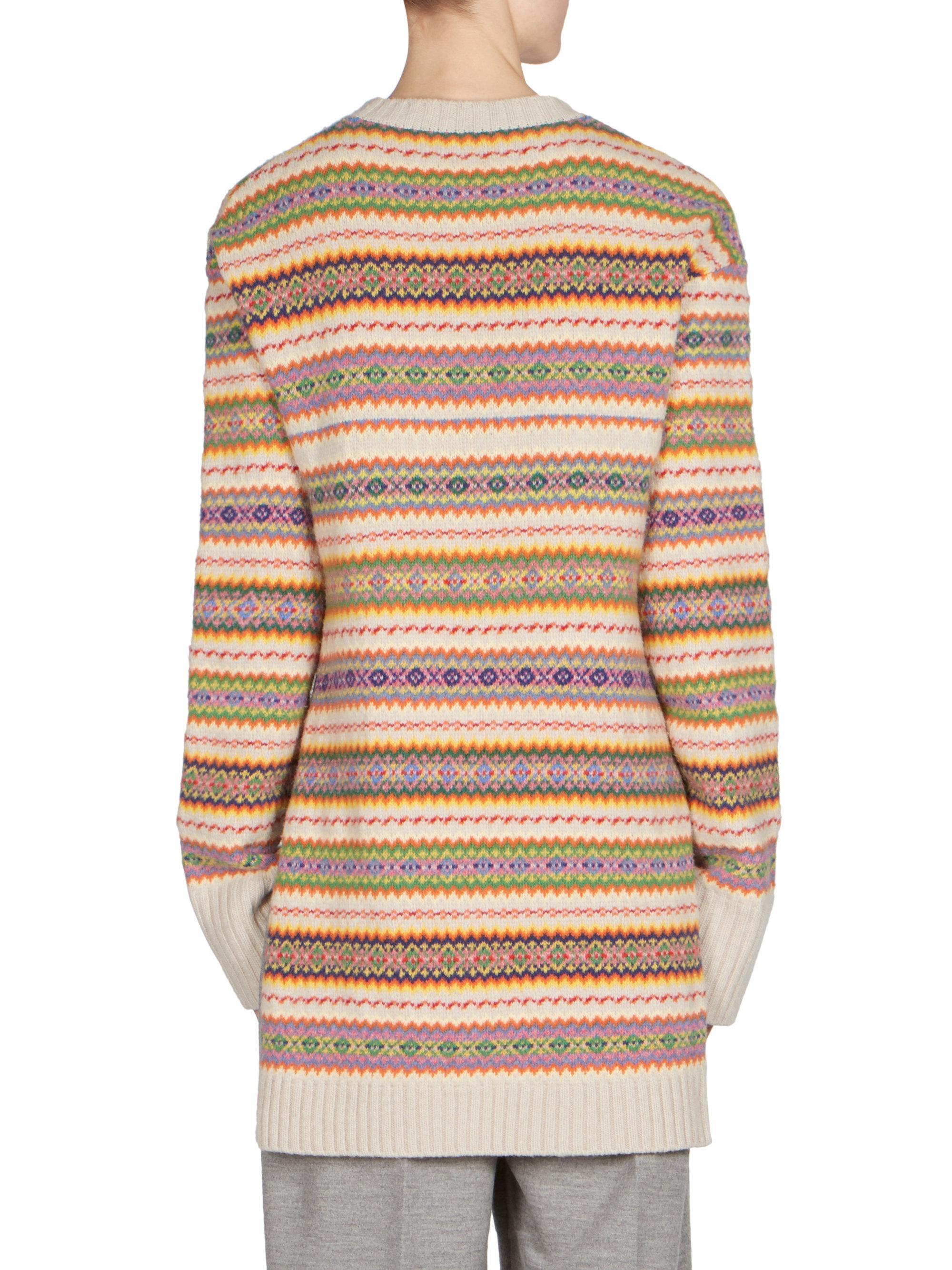 Stella mccartney Wool Fair Isle Sweater   Lyst