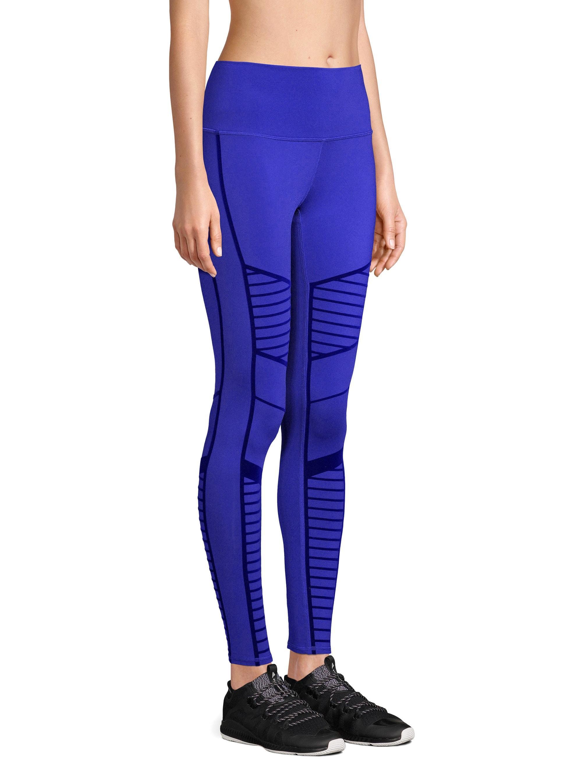 31758f572d Alo Yoga Flocked Moto Leggings in Purple - Save 1% - Lyst